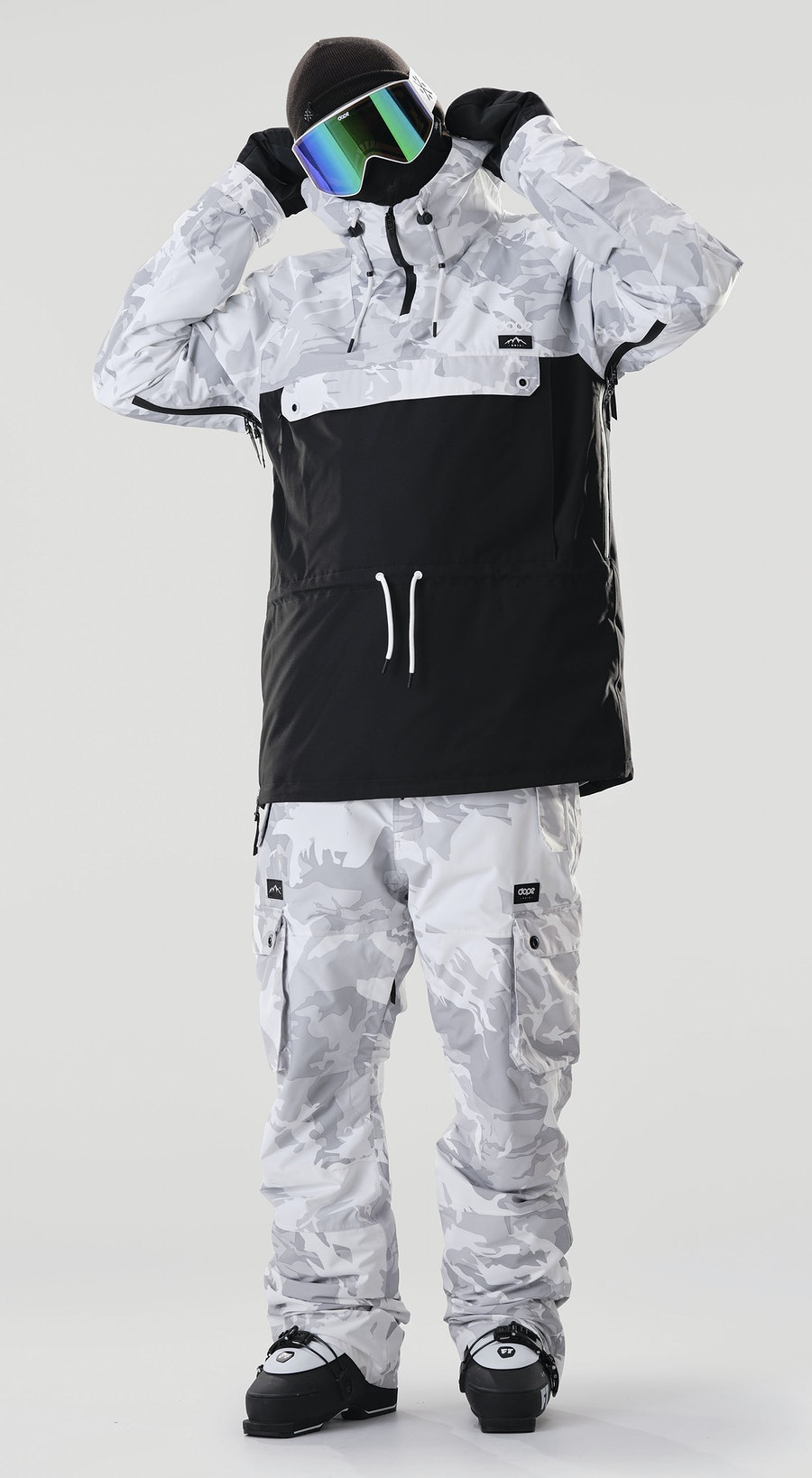 Dope Annok Tucks Camo/Black Vêtements de Ski Multi