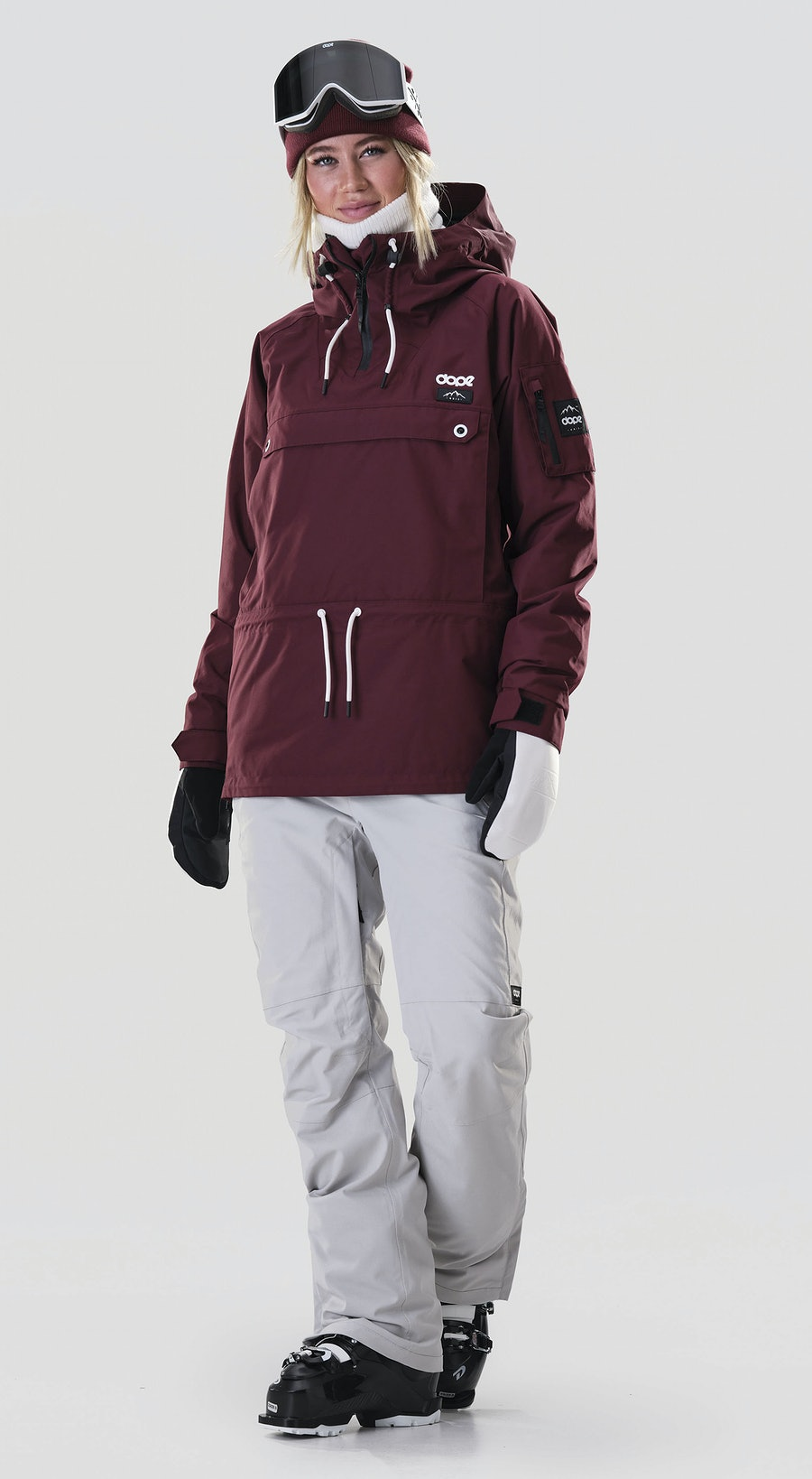 Dope Annok W Burgundy Ski Clothing Multi