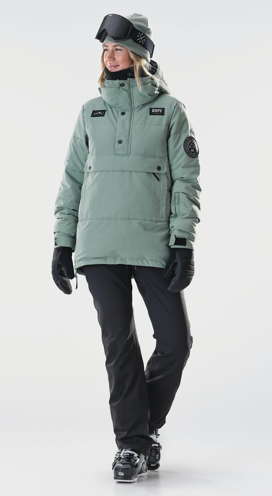Dope Puffer W Faded Green Vêtements de Ski Multi