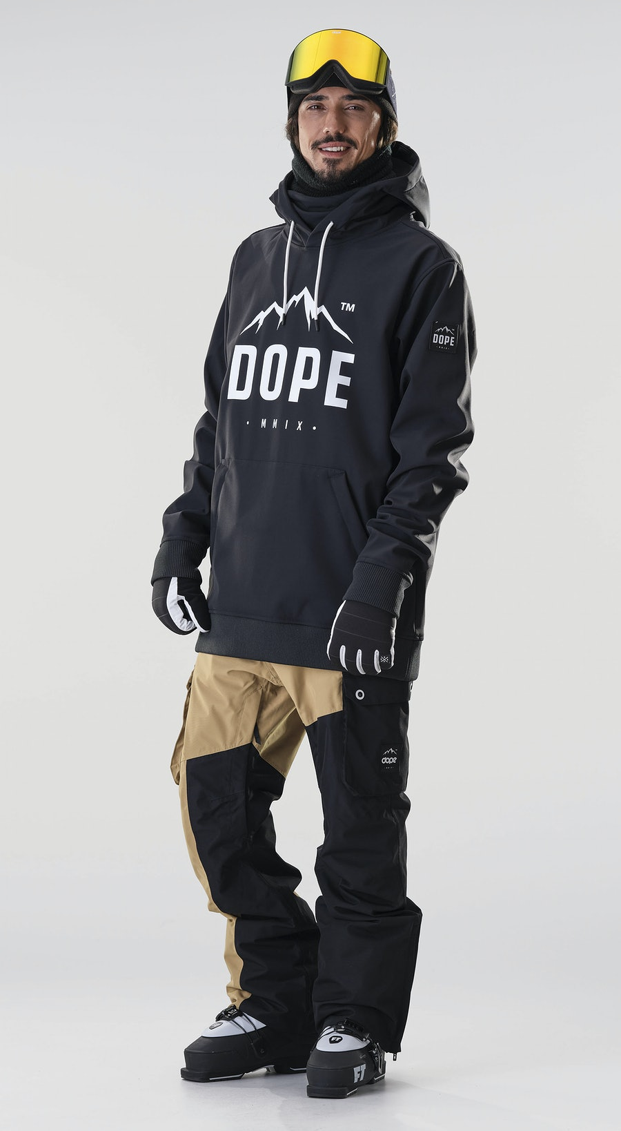 Dope Yeti Paradise Black Ski Clothing Multi