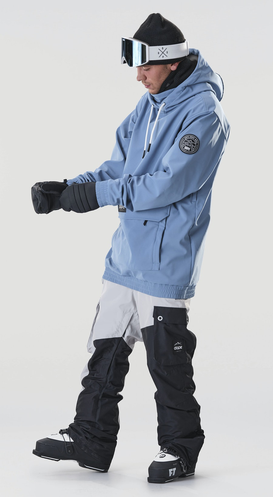 Dope Wylie Patch Blue Steel Ski Clothing Multi