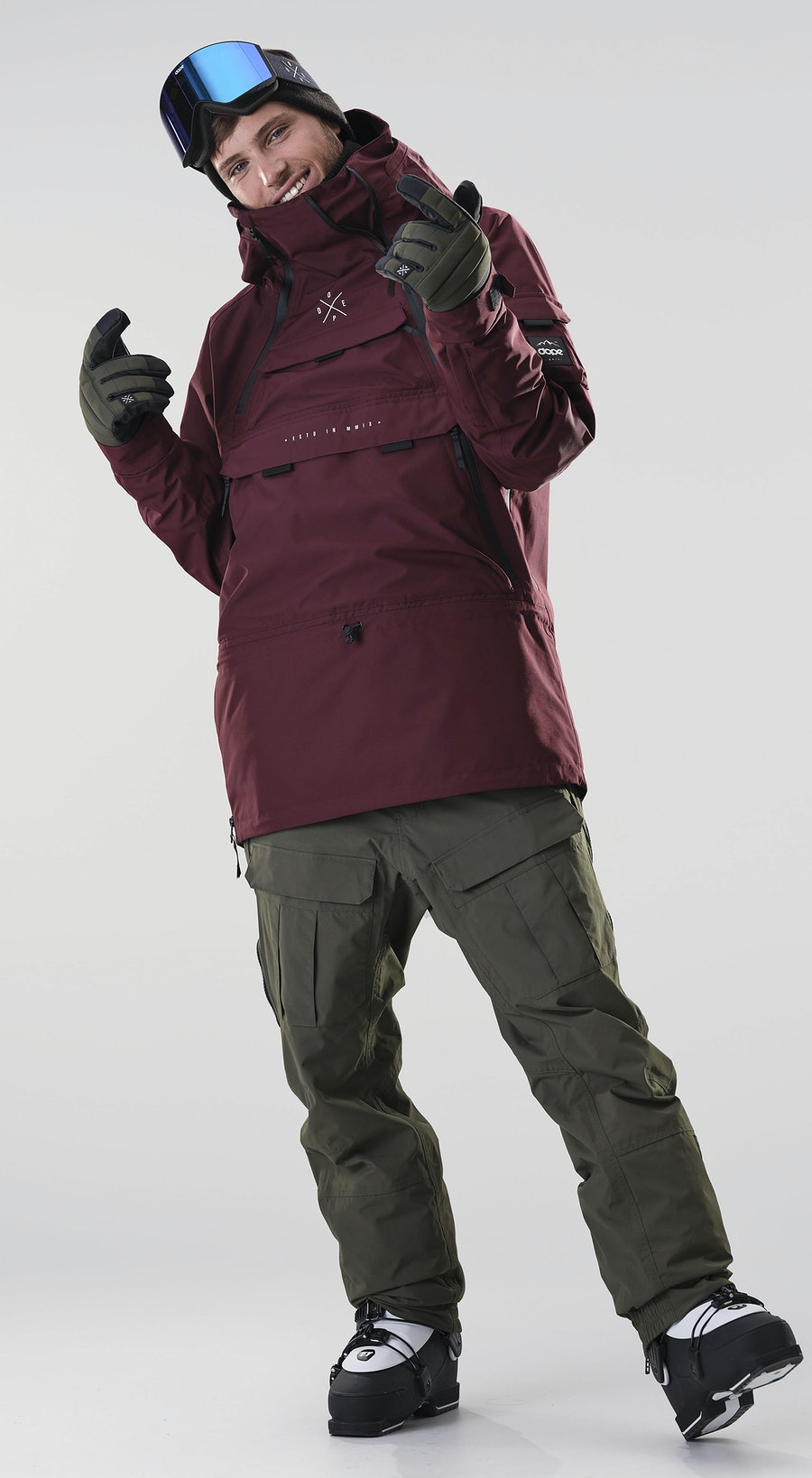 Dope Akin Burgundy Vêtements de Ski Multi
