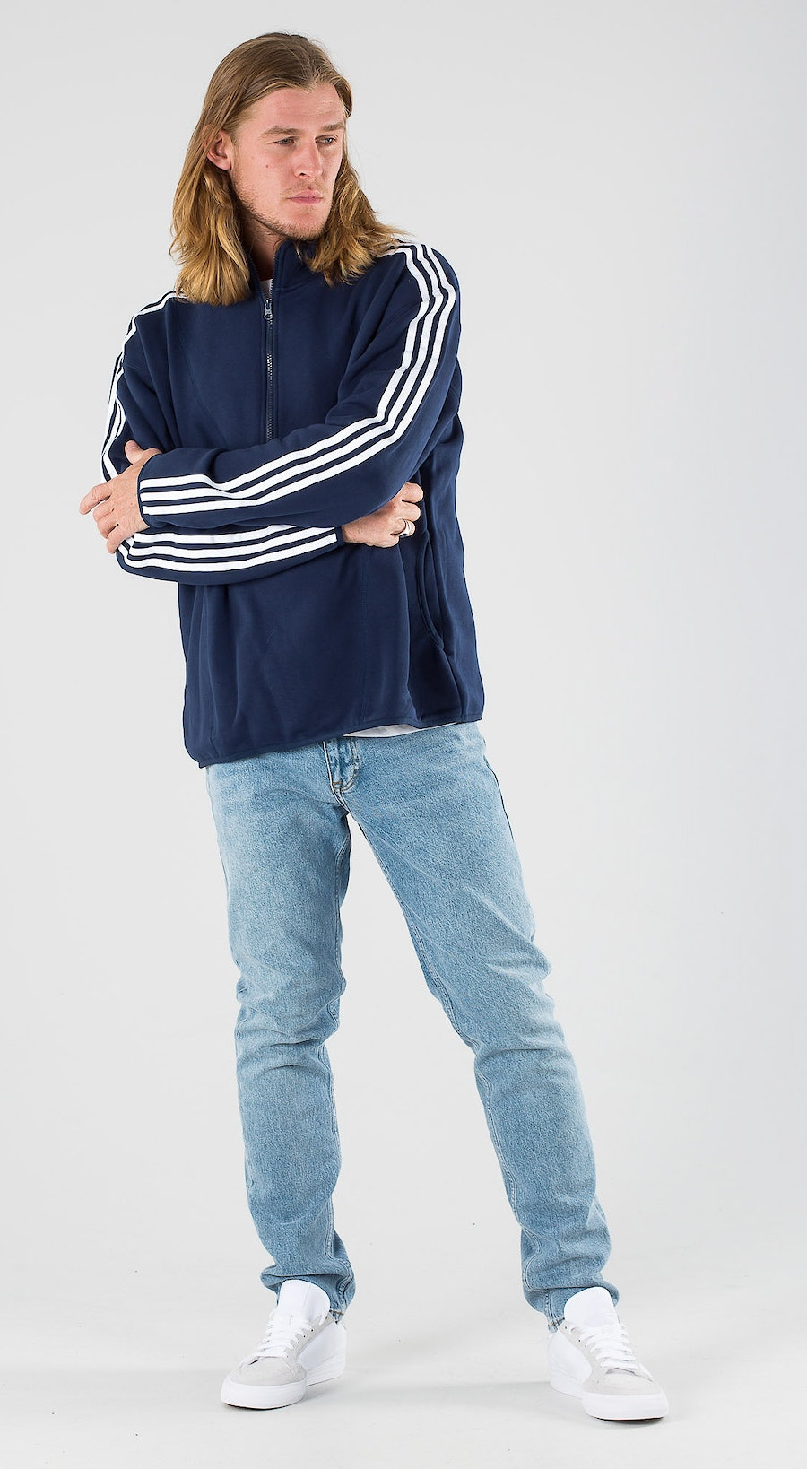 Adidas Skateboarding Terry Track Collegiate Navy/White Outfit Multi