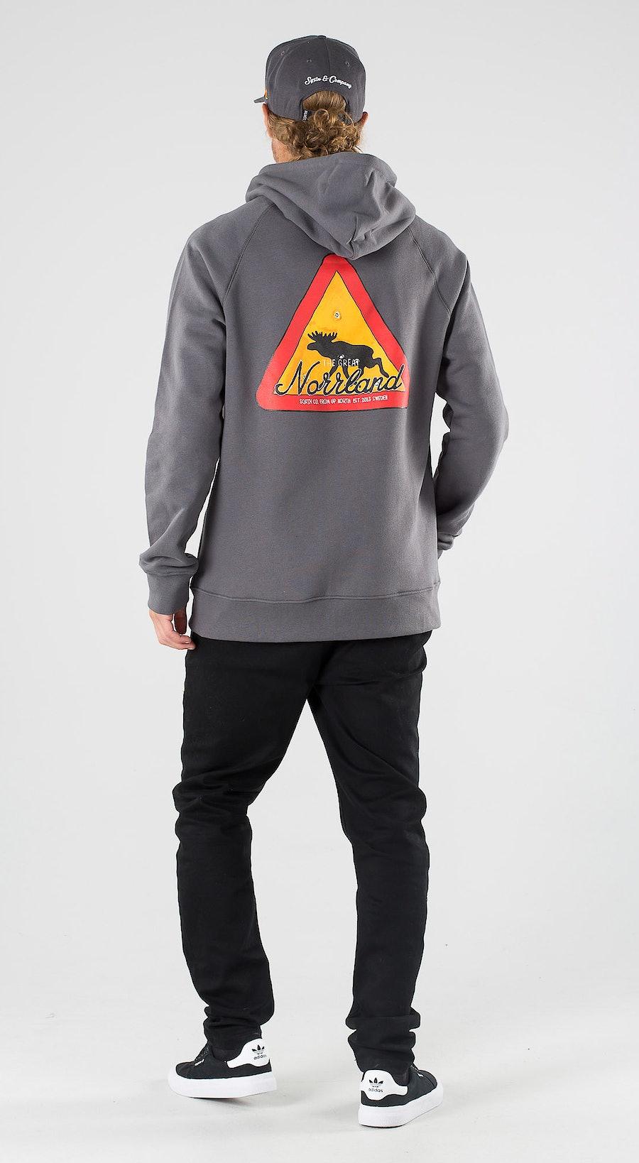 SQRTN Warning Zip Dark Grey Outfit Multi