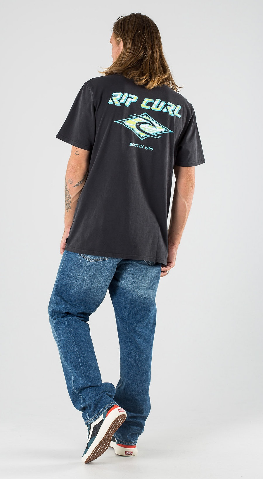 Rip Curl Fadeout Washed Black Outfit Multi