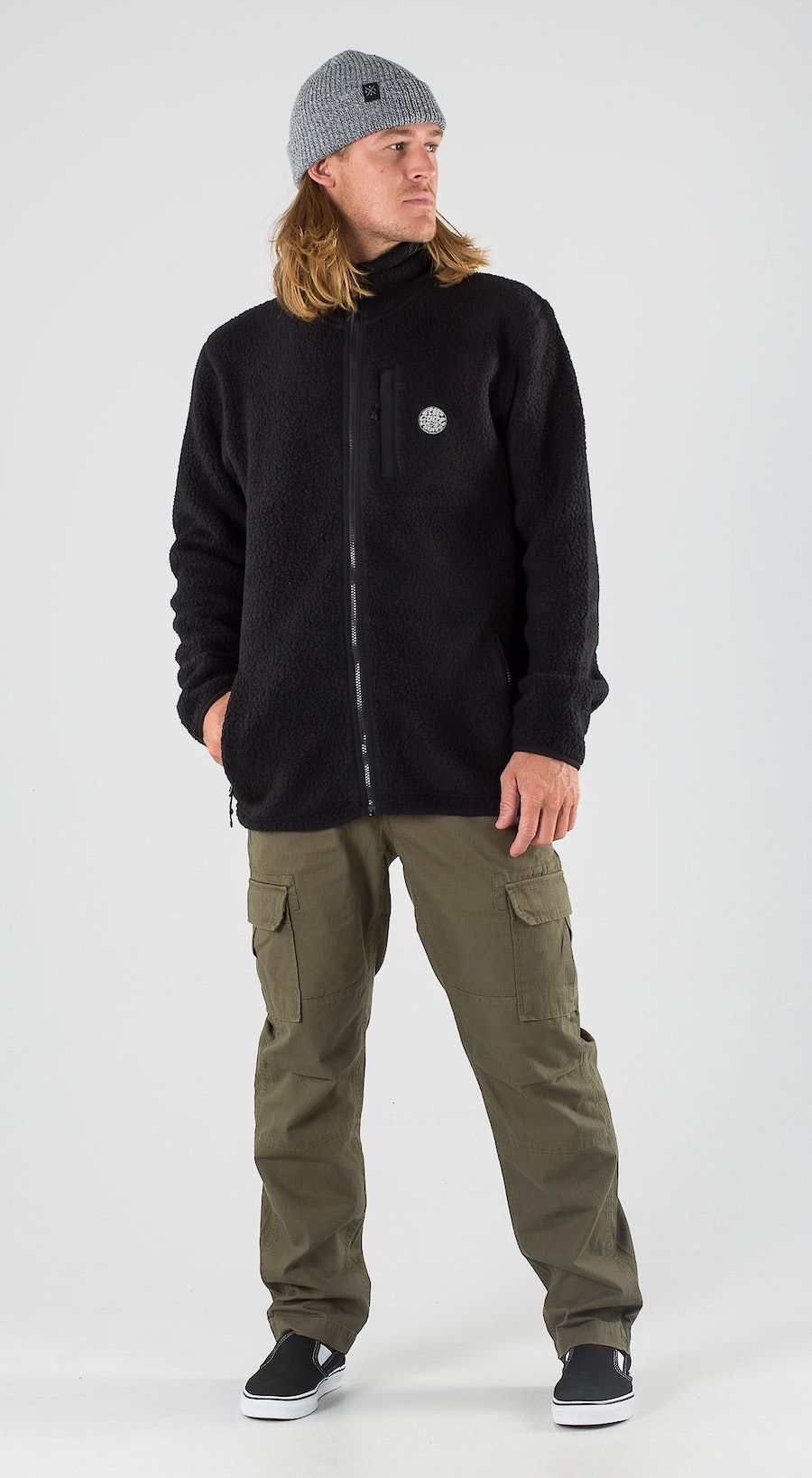 Rip Curl Fireside Zipper Crew Black Outfit Multi