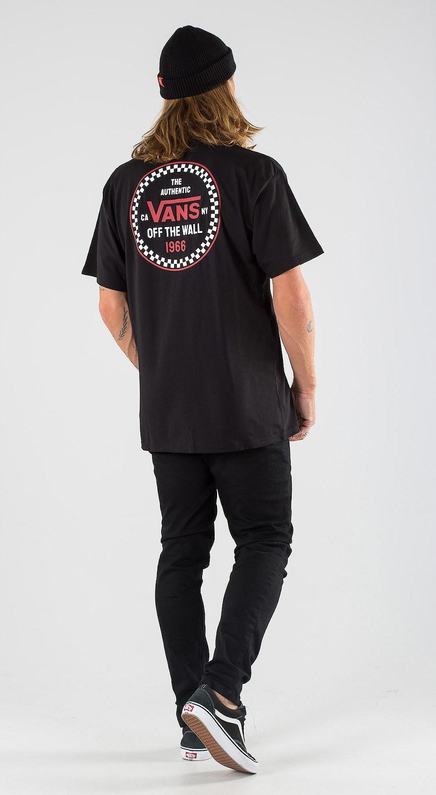 Vans Checker 66 Black Outfit Multi