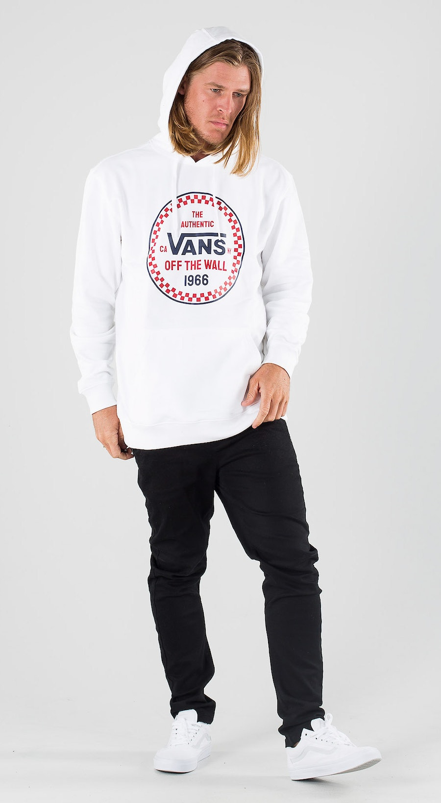 Vans Checker 66 Po White Outfit Multi