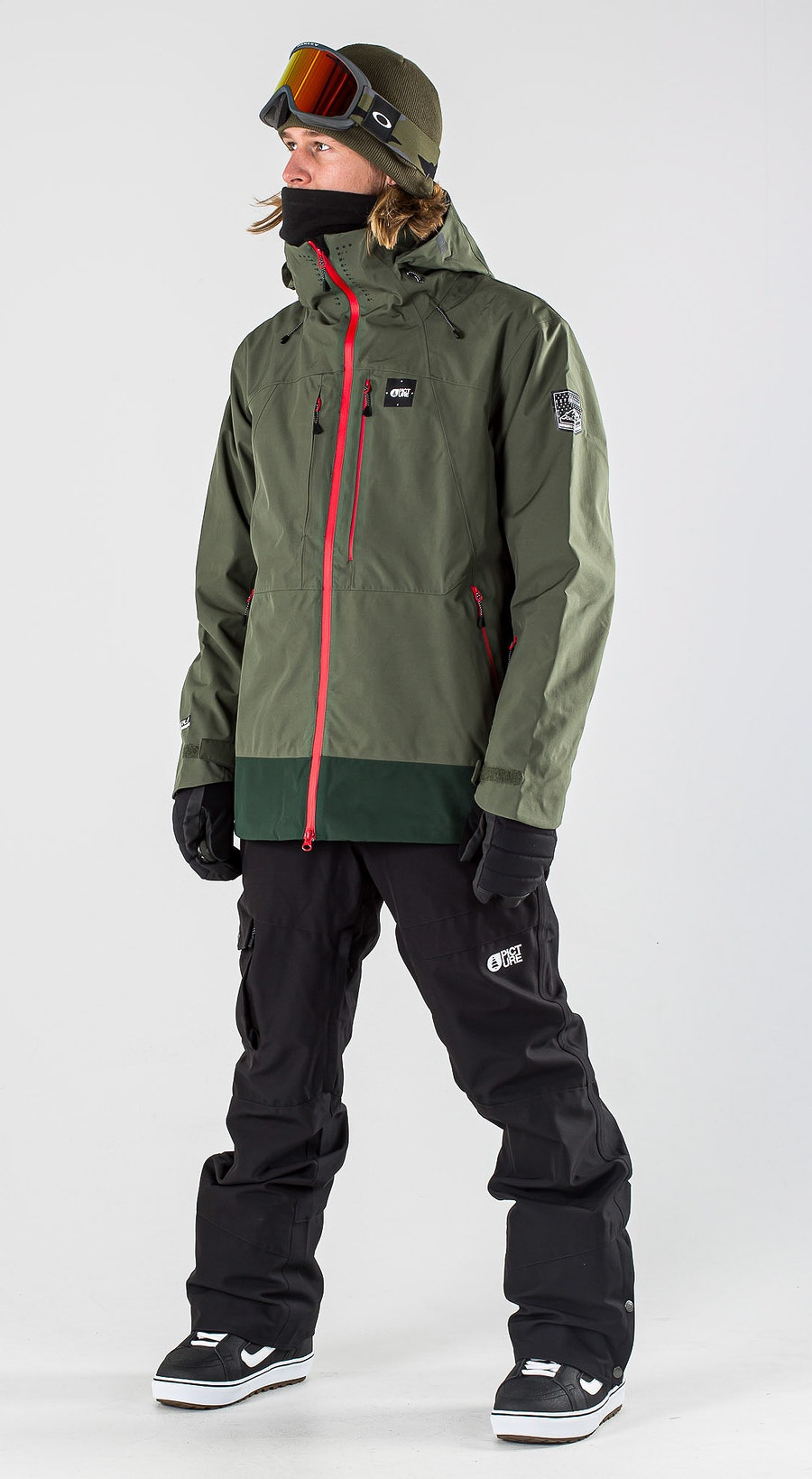 Picture Track Lychen Green Snowboardklaer Multi