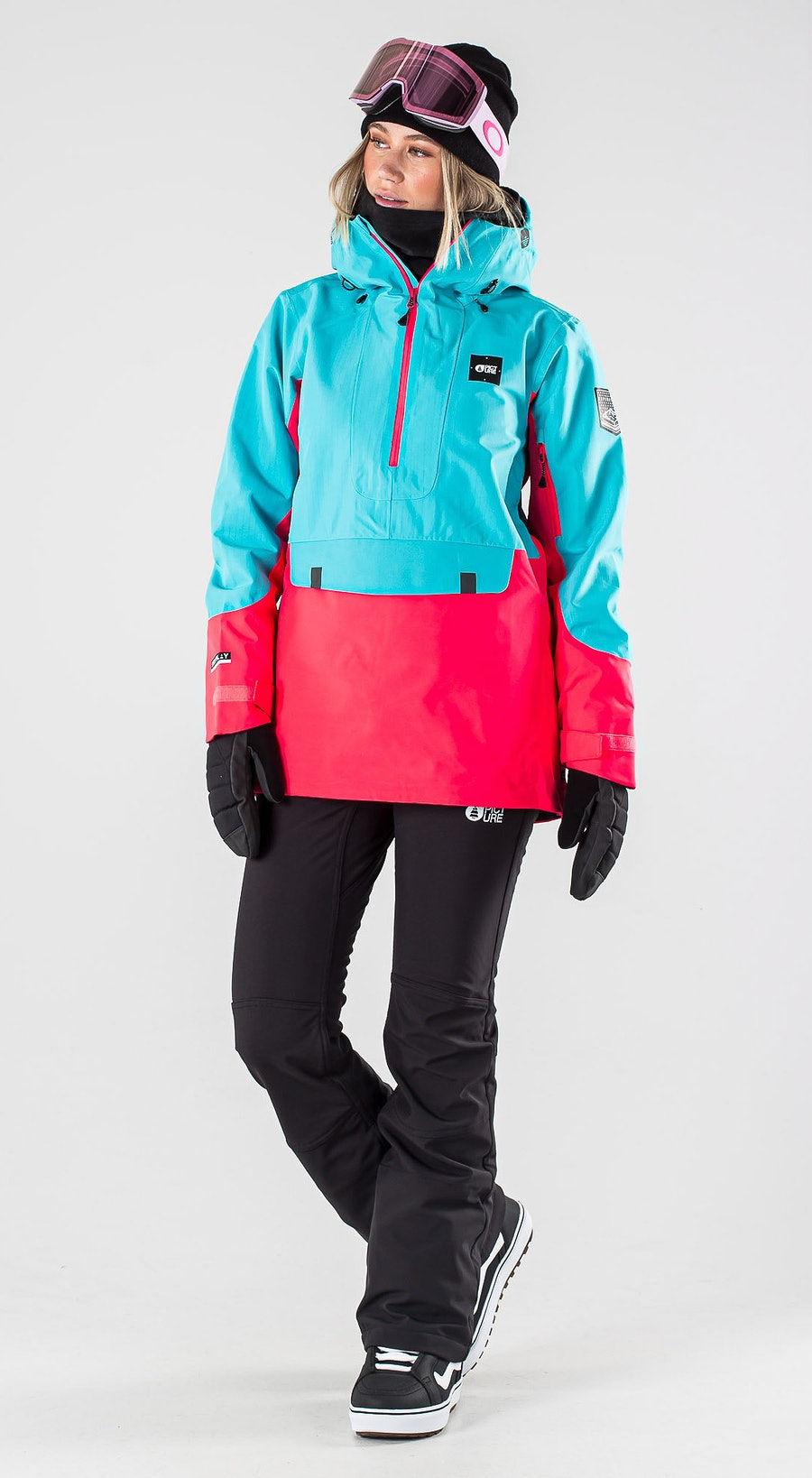 Picture Tanya Light Blue Pink Vêtements de Snowboard  Multi
