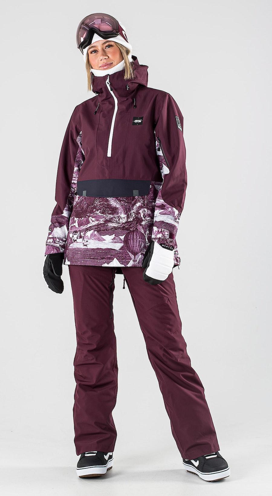 Picture Tanya Burgundy Snowboardkläder Multi