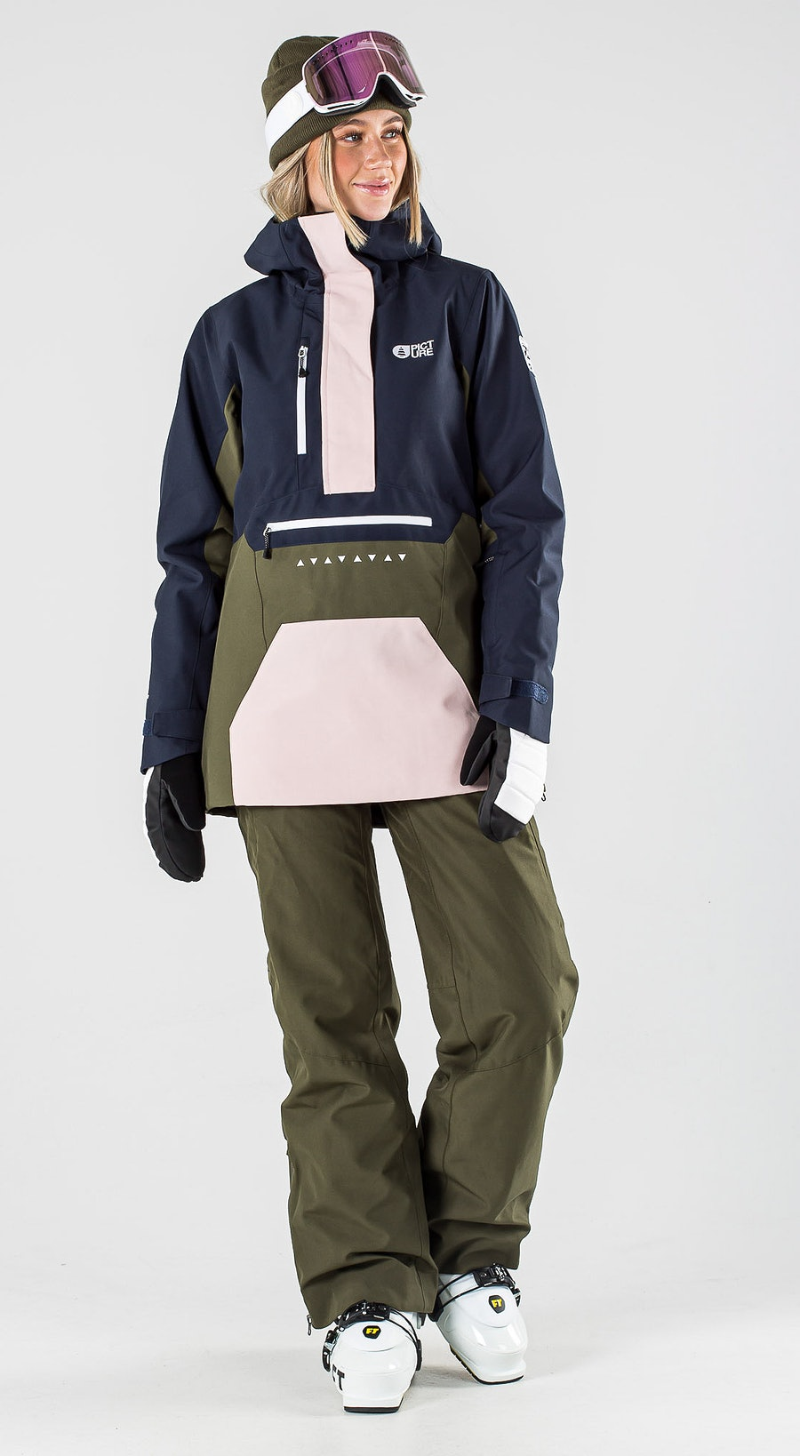 Picture Season Army Green Dark Blue Vêtements de Ski Multi