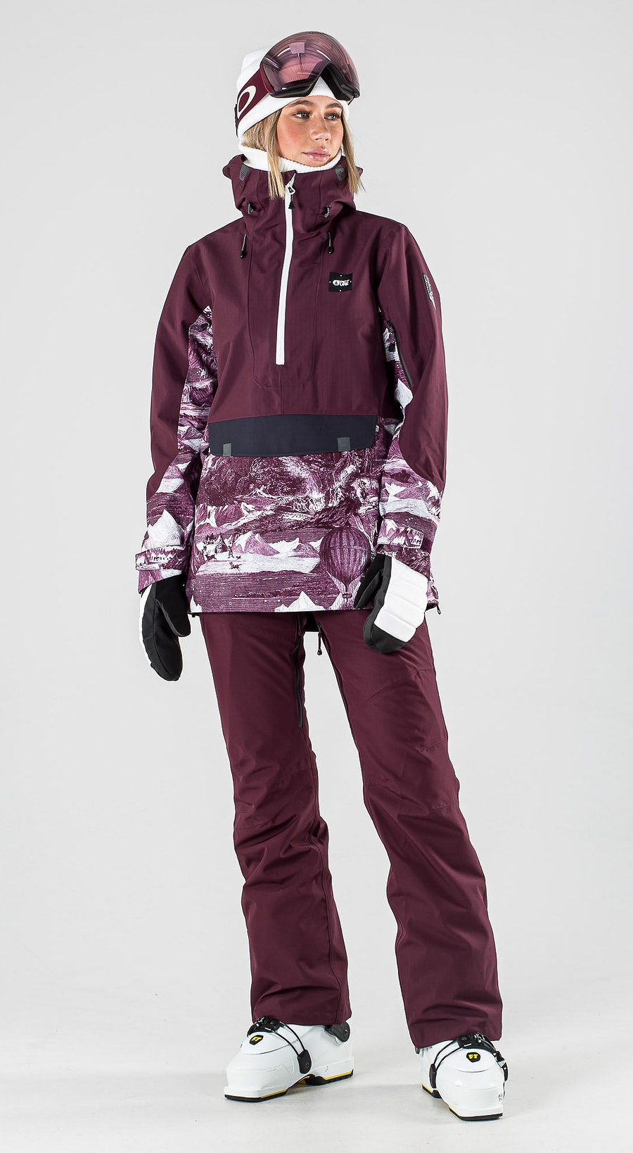 Picture Tanya Burgundy Ski Clothing Multi