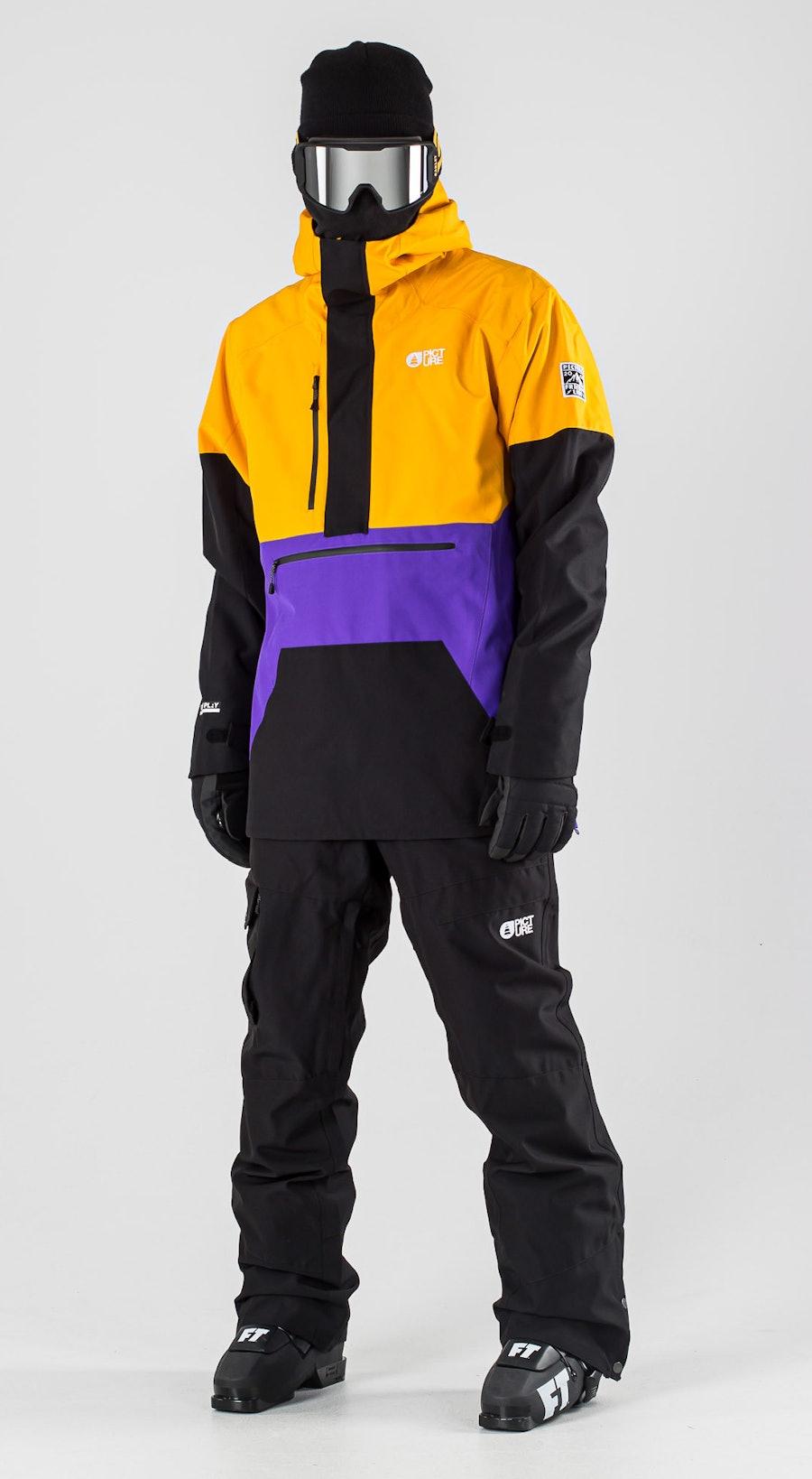 Picture Trifid Yellow Black Ski kleding Multi