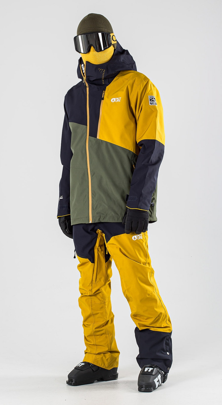Picture Alpin Lychen Green Vêtements de Ski Multi
