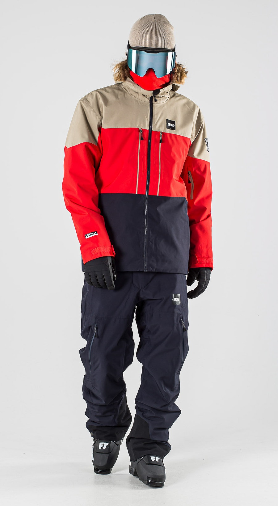 Picture Picture Object Red Dark Blue Ski kleding Multi
