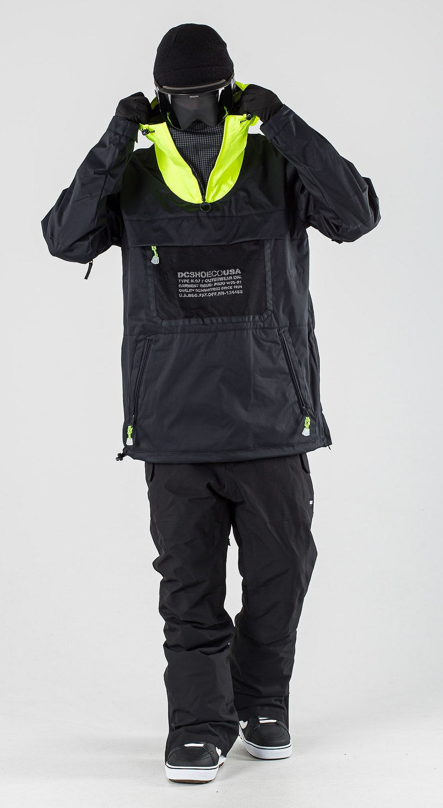 DC Asap Anorak Black Vêtements de Snowboard  Multi