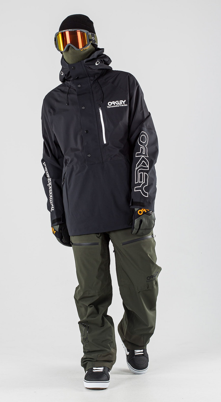Oakley Lined Shell Anorak Blackout Lumilautailuvaatteet Multi