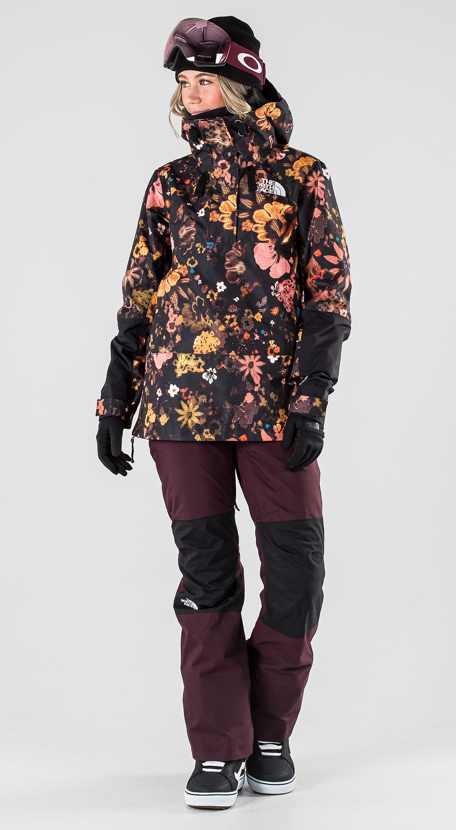 The North Face Tanager Tnf Black/Tnf Black Flowerchld Multiprint Vêtements de Snowboard  Multi