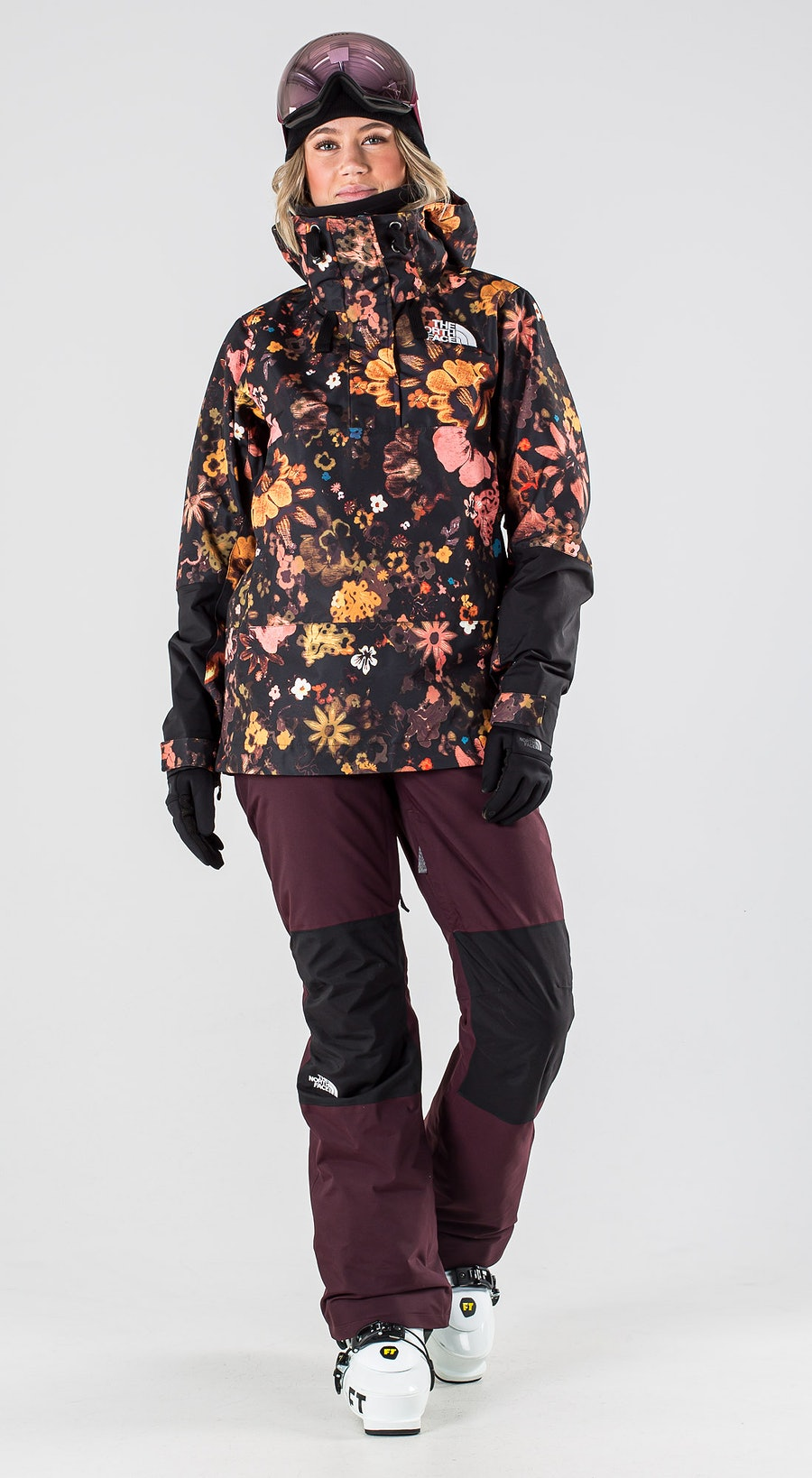 The North Face Tanager Tnf Black/Tnf Black Flowerchld Multiprint Skiklaer Multi