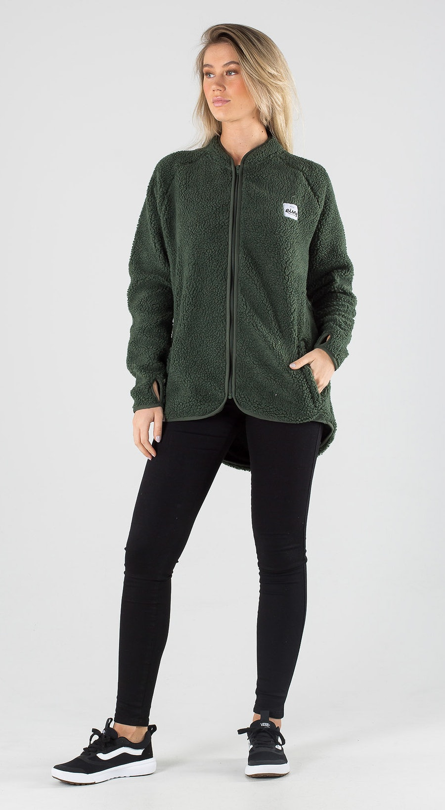 Eivy Redwood Sherpa Forest Green Outfit Multi