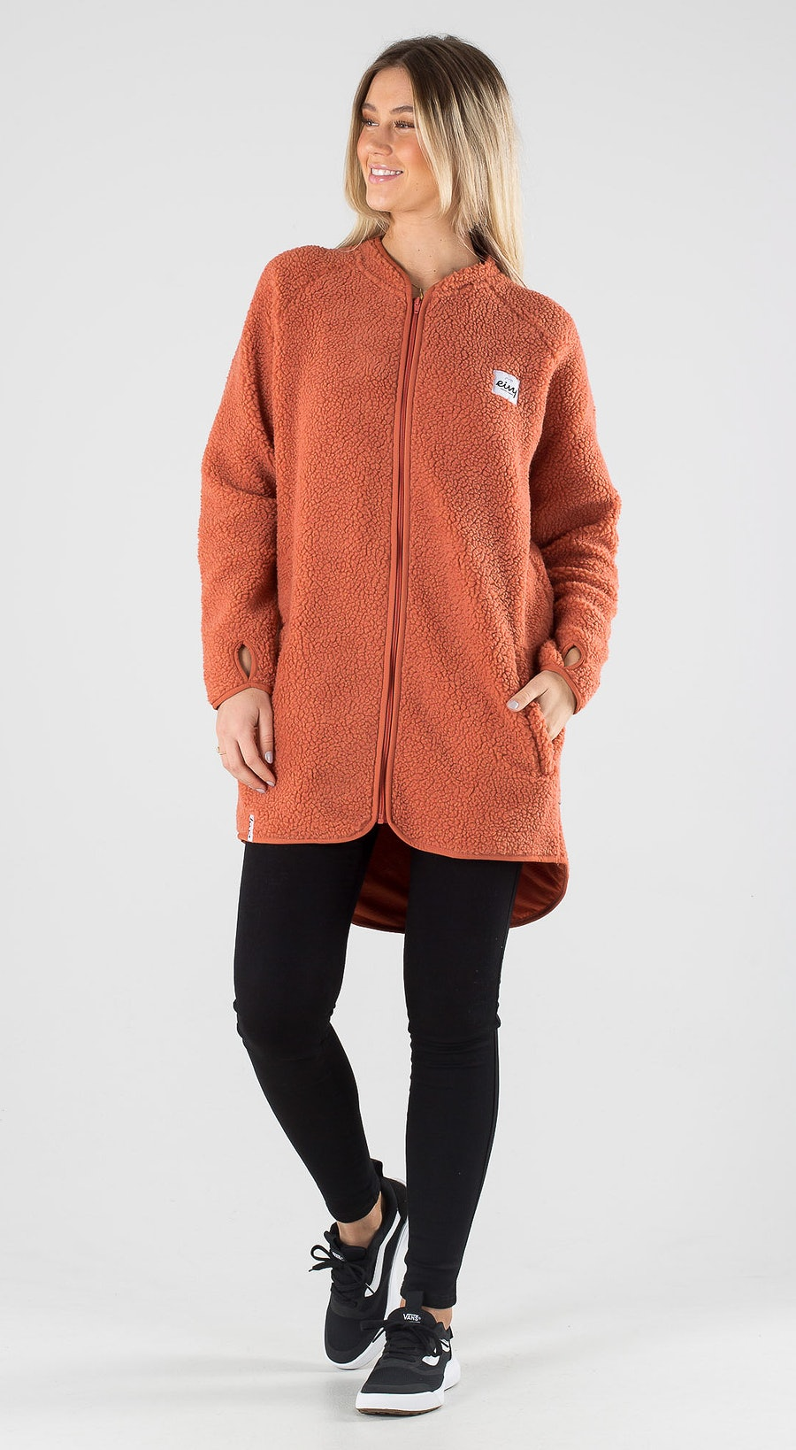 Eivy Redwood Sherpa Coat Rustic Outfit Multi