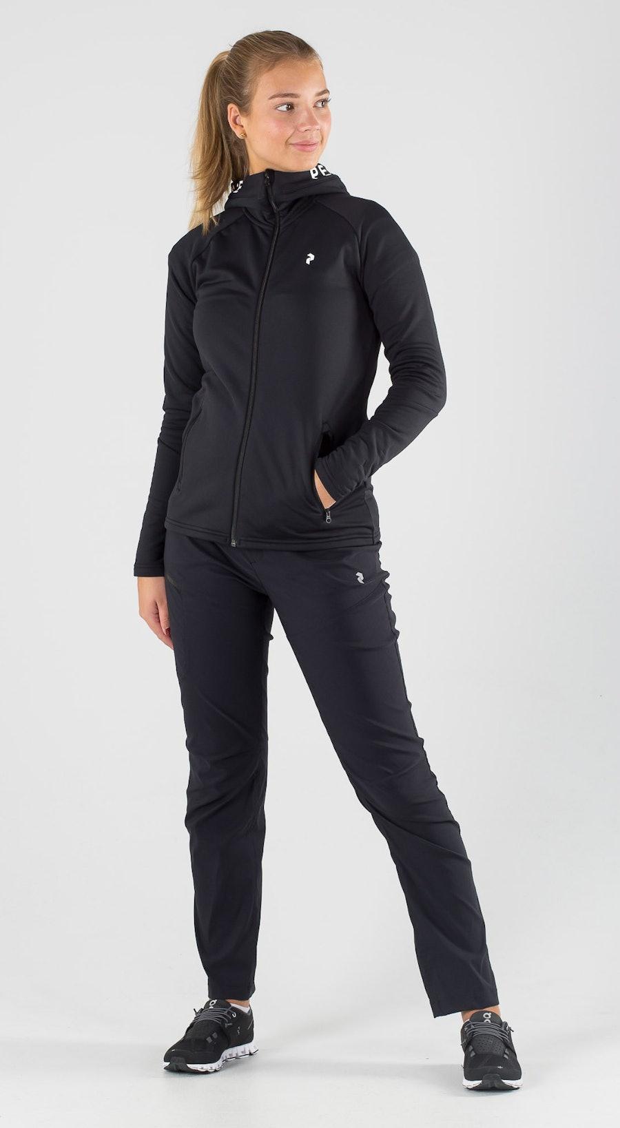 Peak Performance Rider Zip Black Outfit Multi