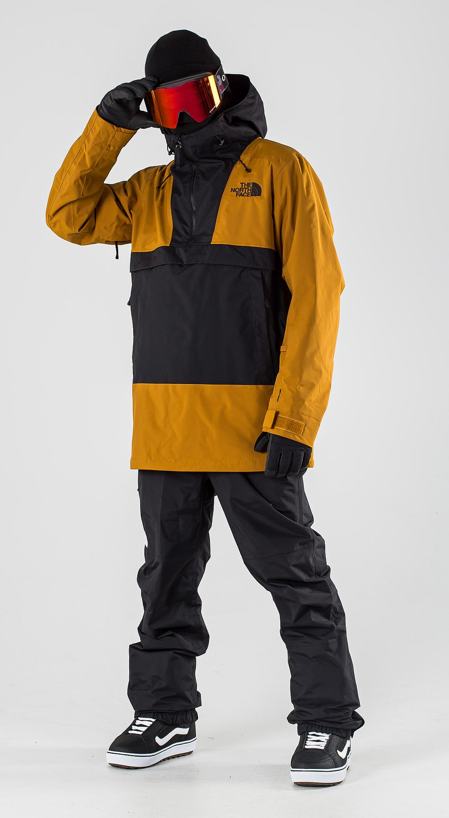 The North Face Silvani Anorak Timber Tan/Tnf Black Snowboardkleidung Multi