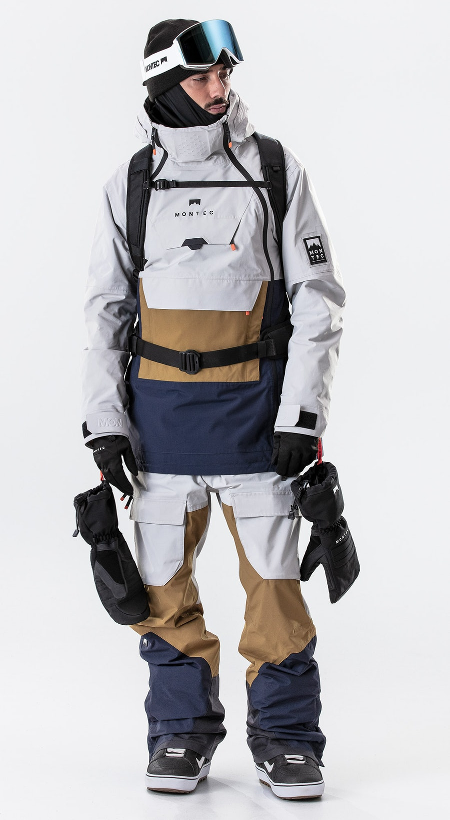 Montec Doom Light Grey/Gold/Marine Vêtements de Snowboard  Multi