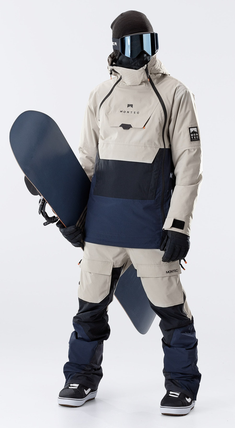 Montec Doom Sand/Black/Marine Vêtements de Snowboard  Multi