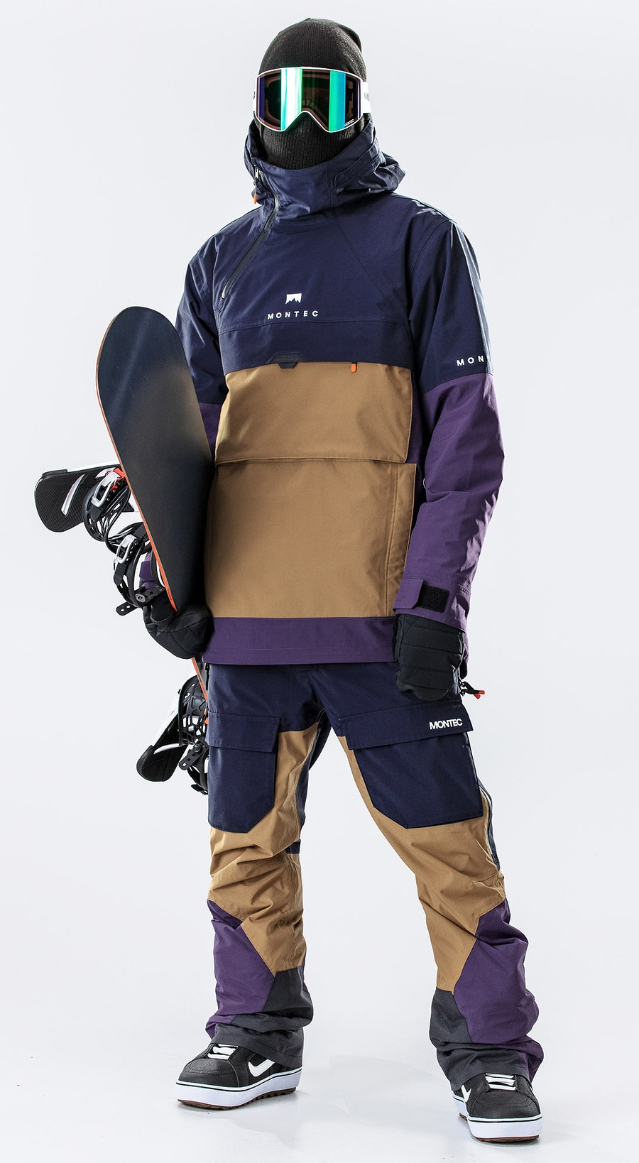 Montec Dune Marine/Gold/Purple Vêtements de Snowboard  Multi