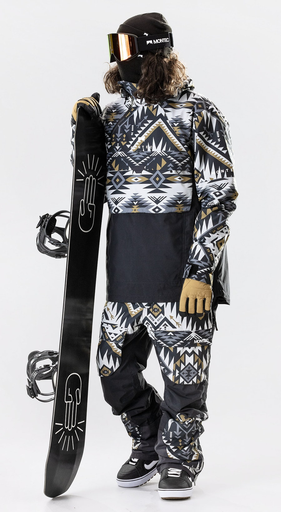 Montec Dune Komber Gold/Black Vêtements de Snowboard  Multi