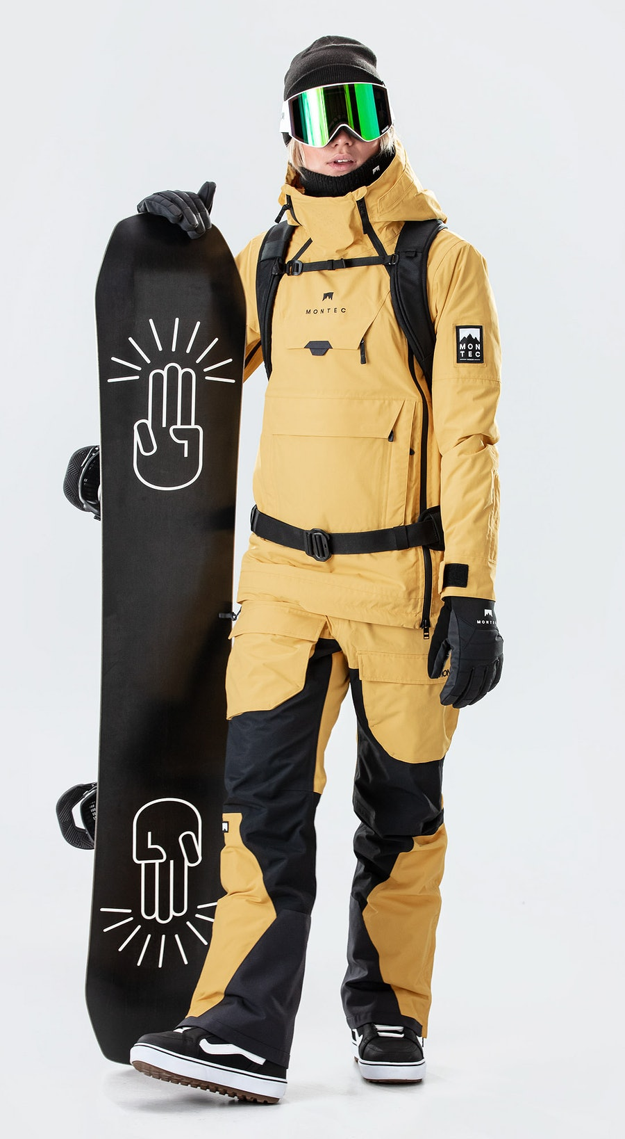 Montec Doom W Yellow Snowboardkläder Multi
