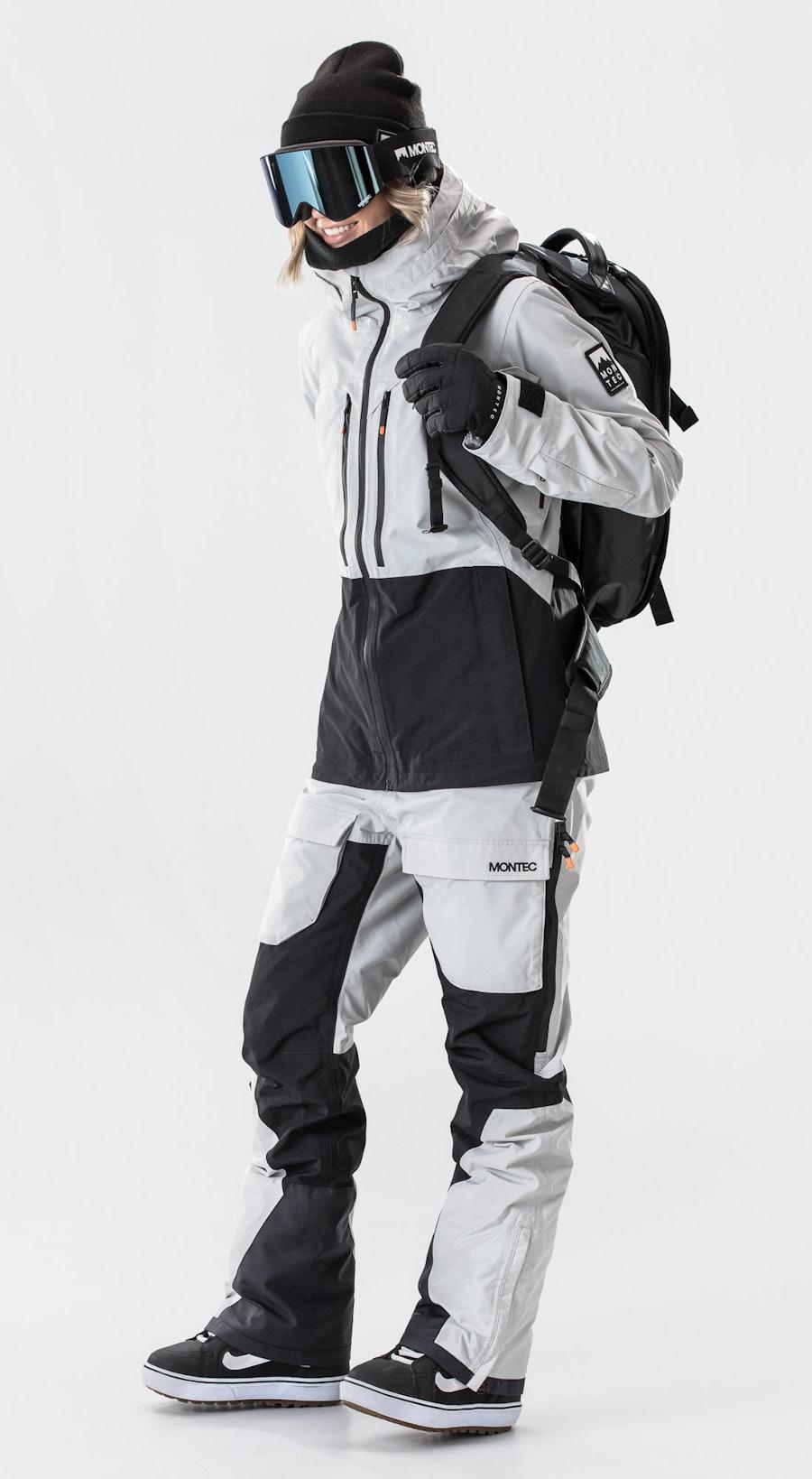 Montec Moss Light Grey/Black Abbigliamento da Snowboard Multi