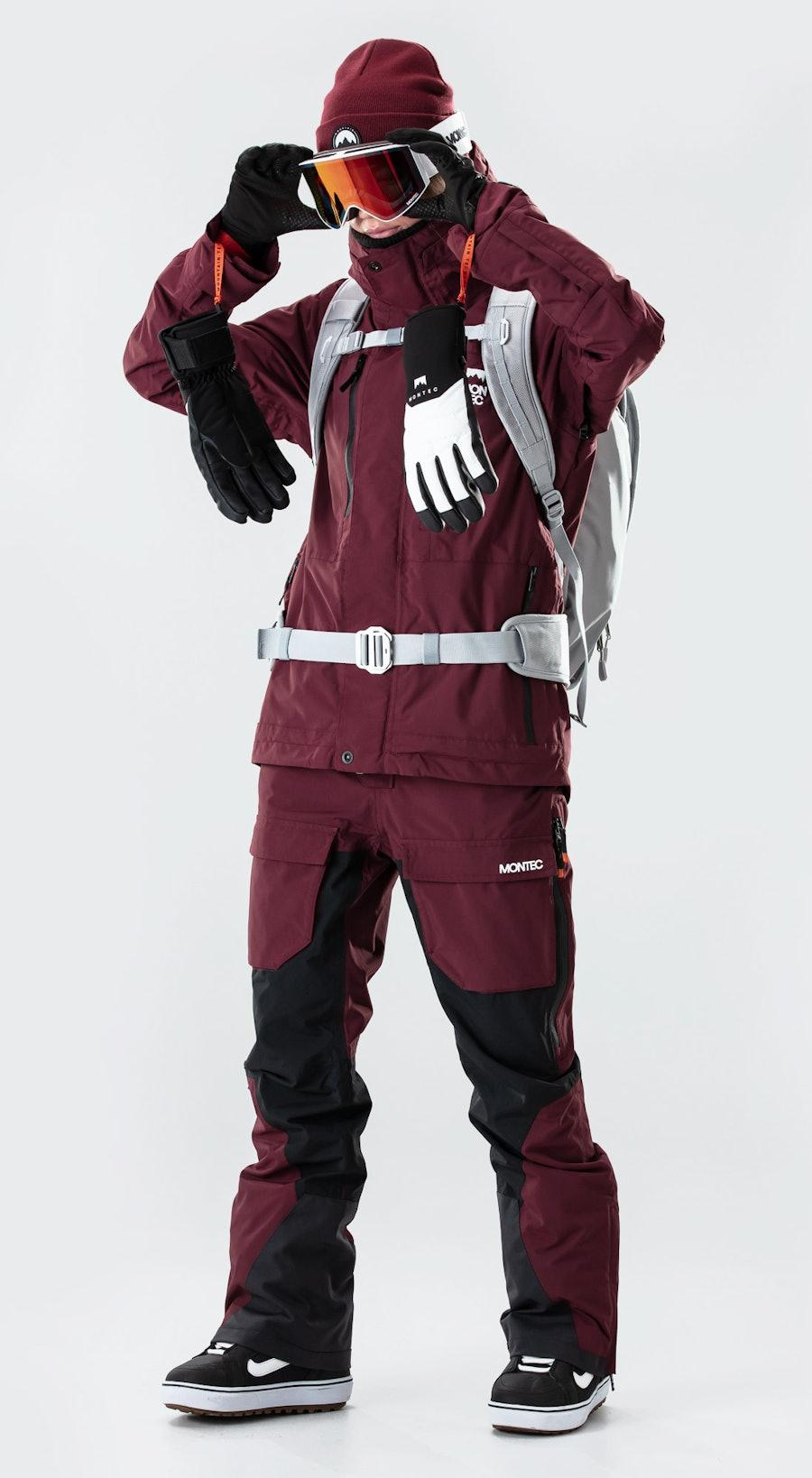 Montec Fawk W Burgundy Snowboard kleding Multi