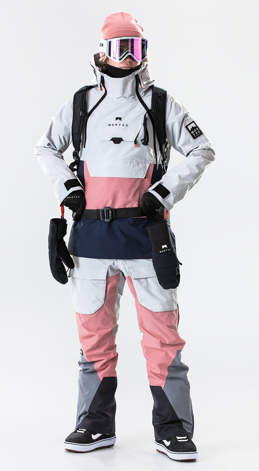 Montec Doom W Light Grey/Pink/Marine Snowboardklaer Multi