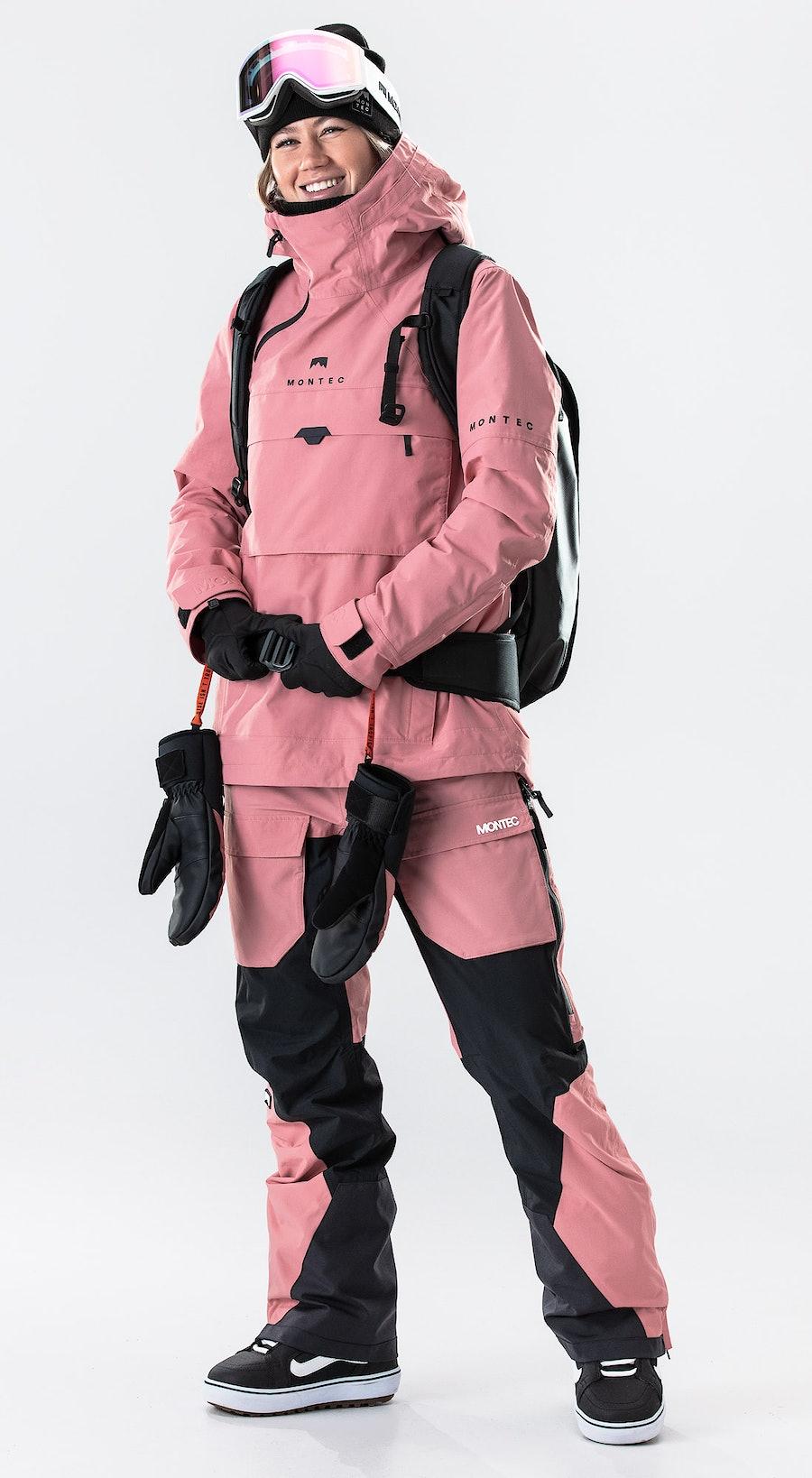 Montec Dune W Pink Abbigliamento da Snowboard Multi