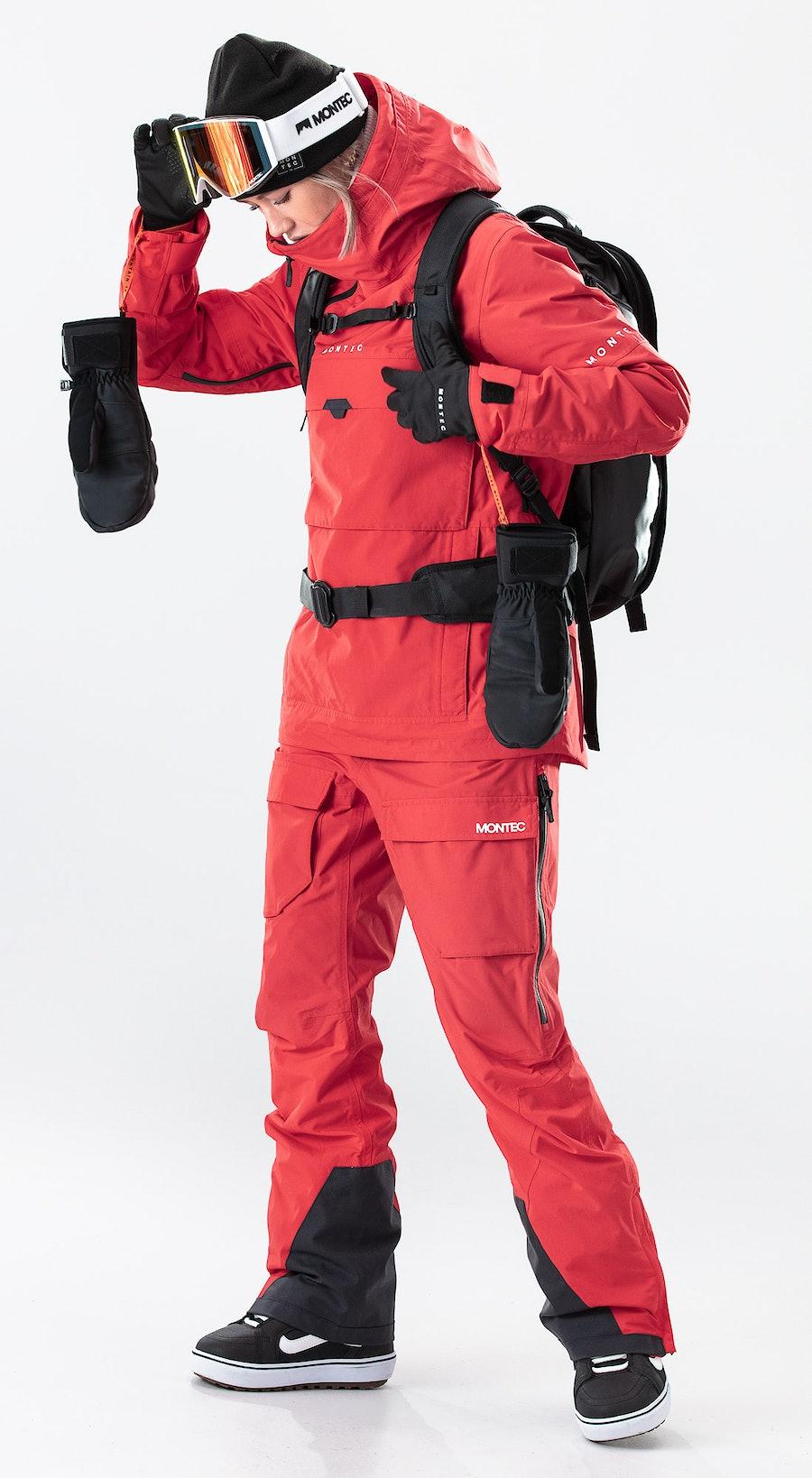 Montec Dune W Red Snowboardklaer Multi