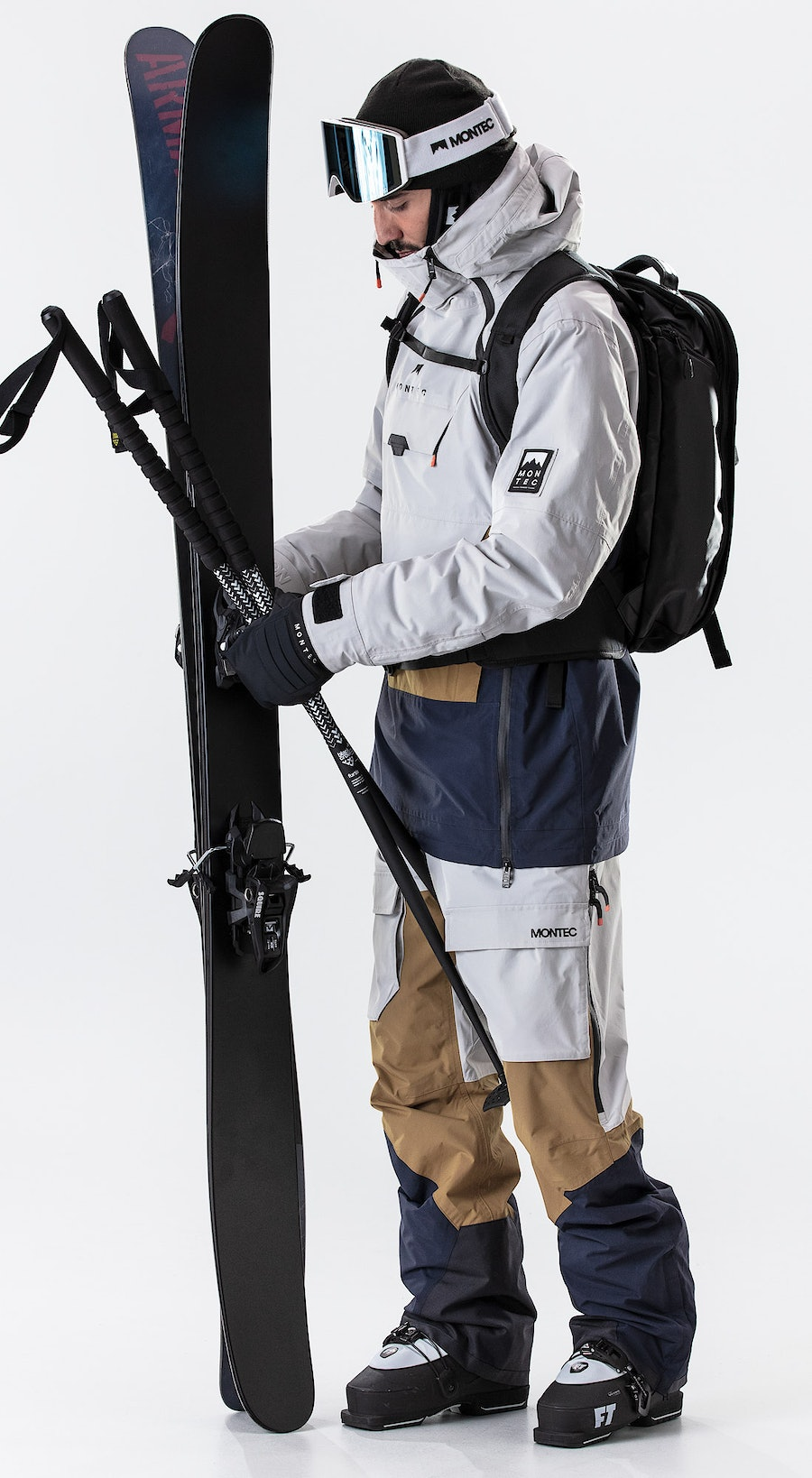 Montec Doom Light Grey/Gold/Marine Vêtements de Ski Multi