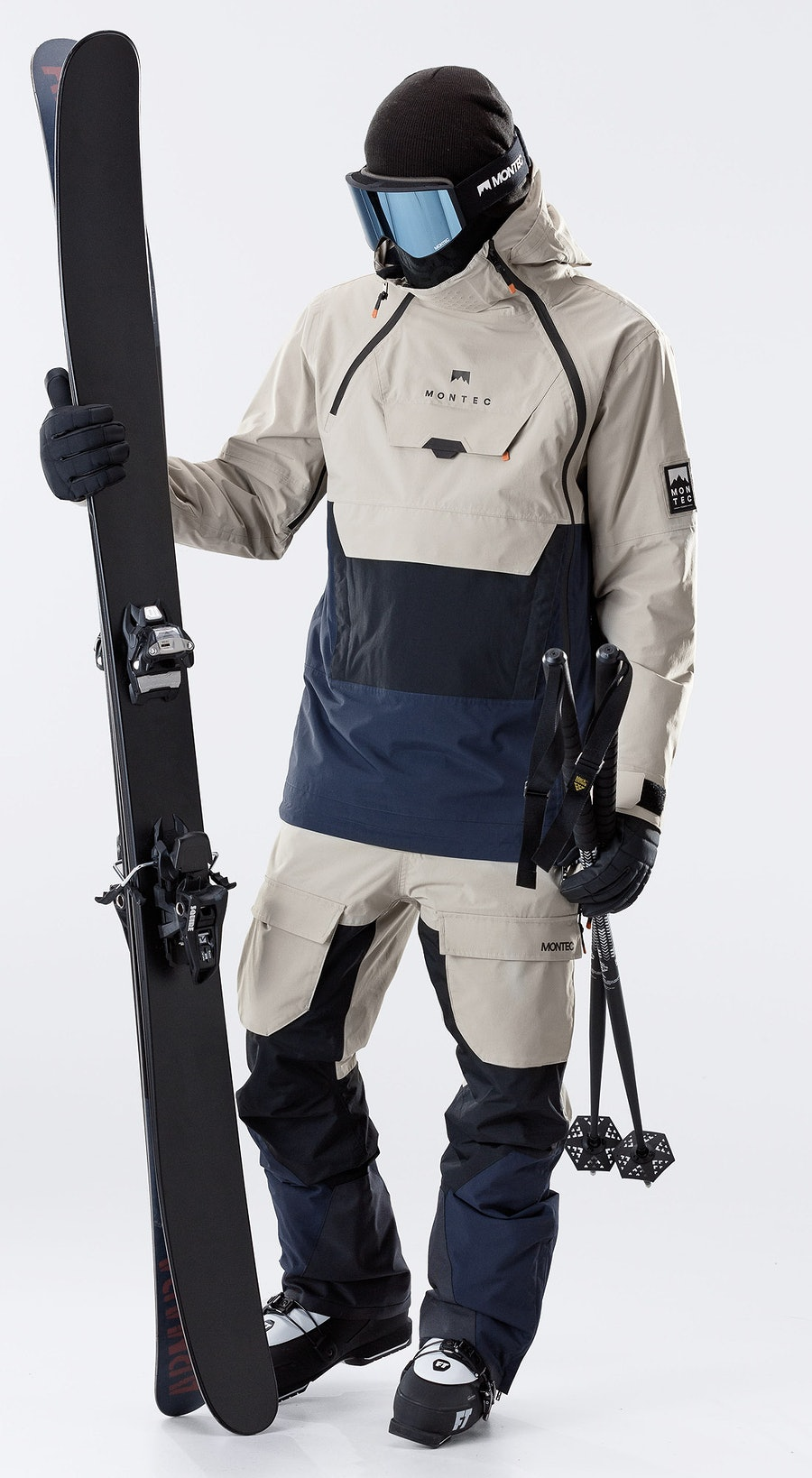 Montec Doom Sand/Black/Marine Vêtements de Ski Multi