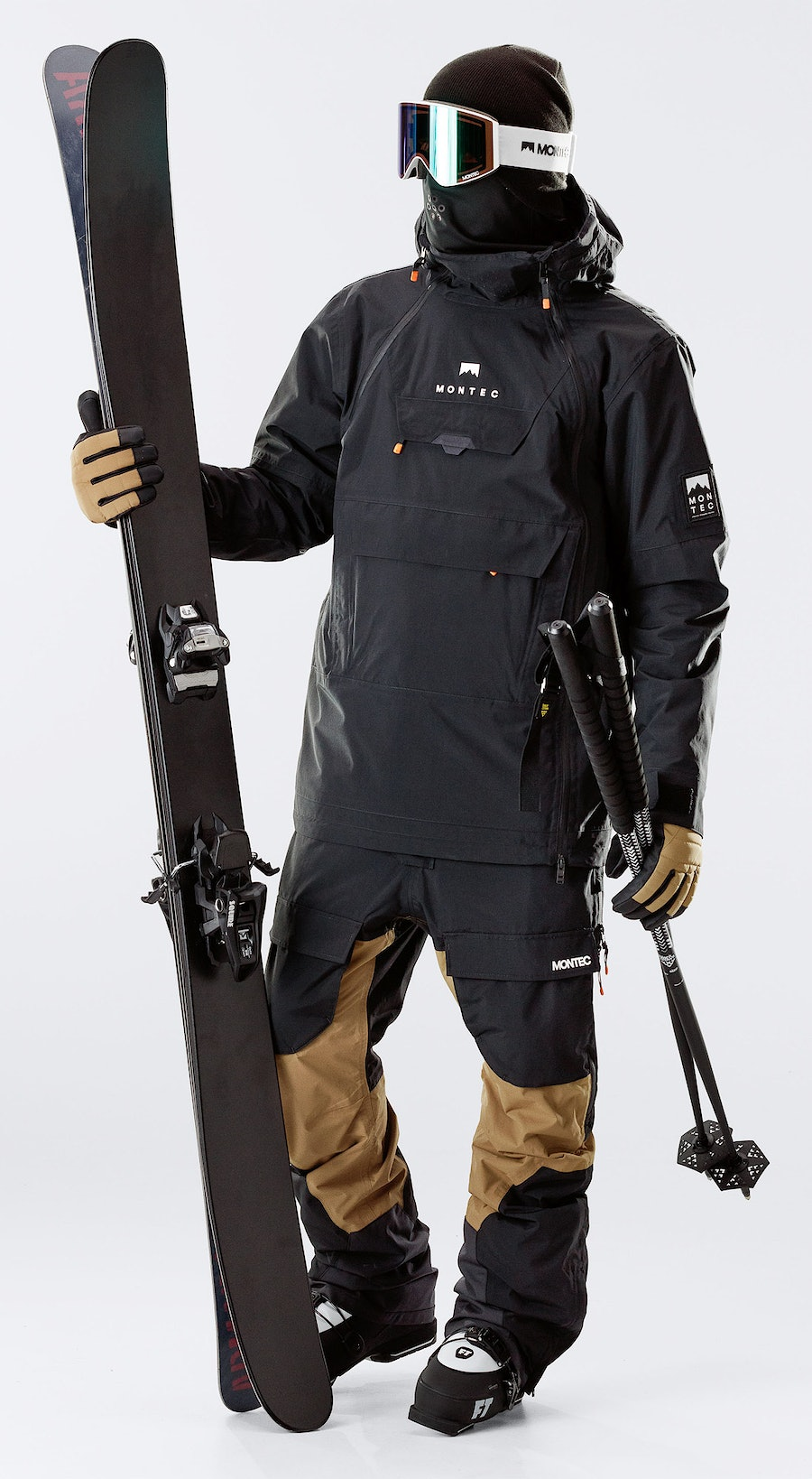 Montec Doom Black Vêtements de Ski Multi