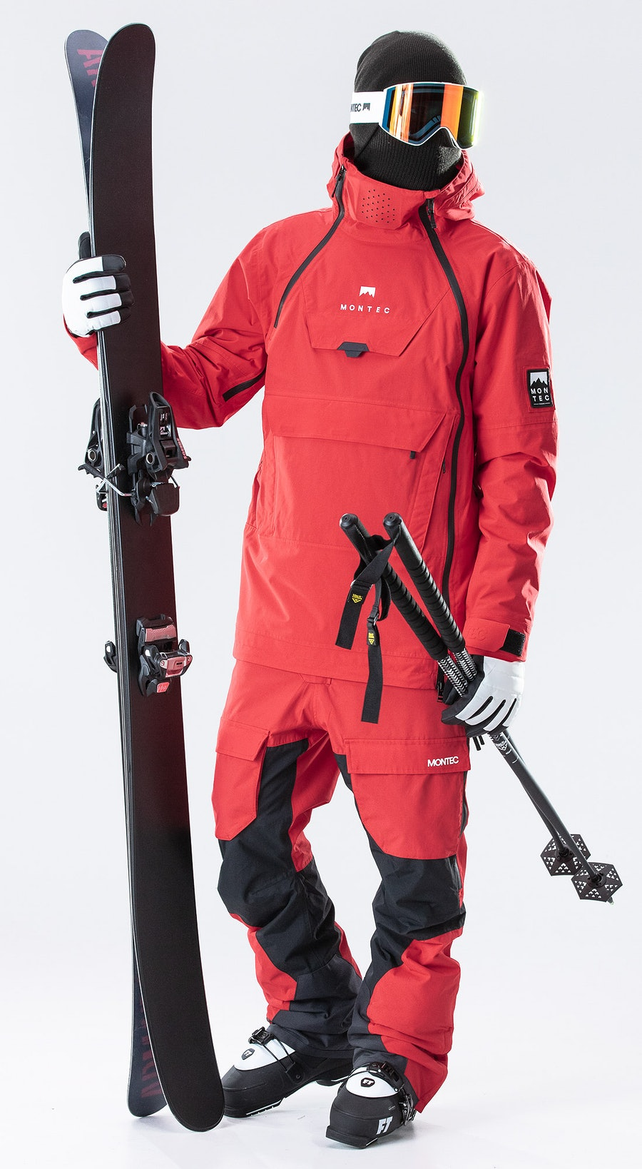 Montec Doom Red Vêtements de Ski Multi