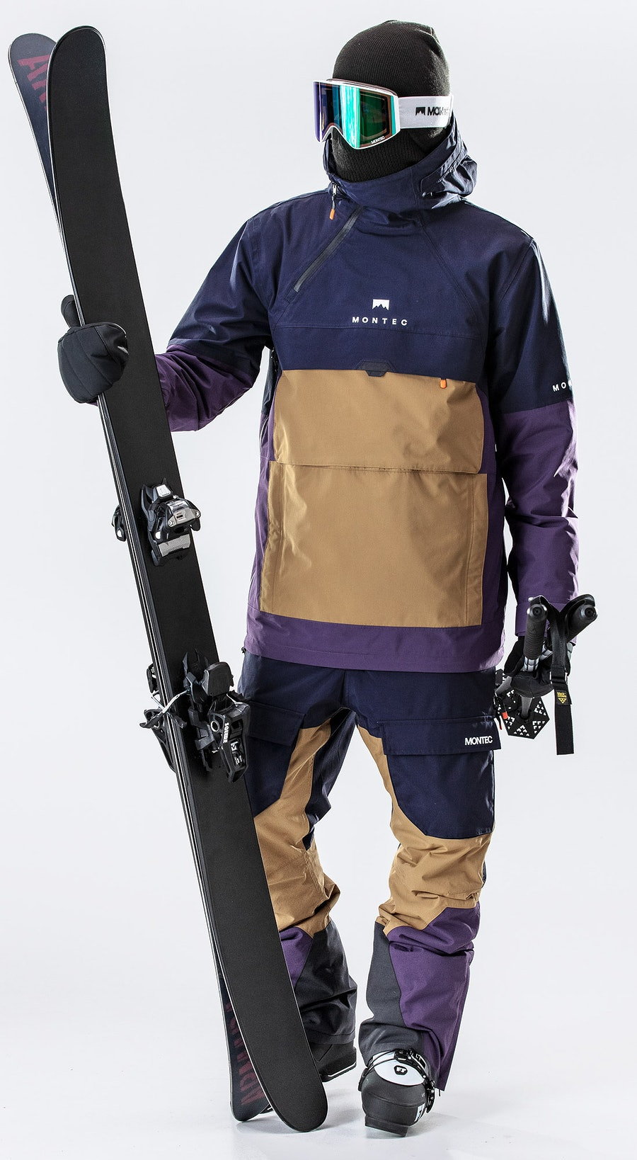 Montec Dune Marine/Gold/Purple Vêtements de Ski Multi