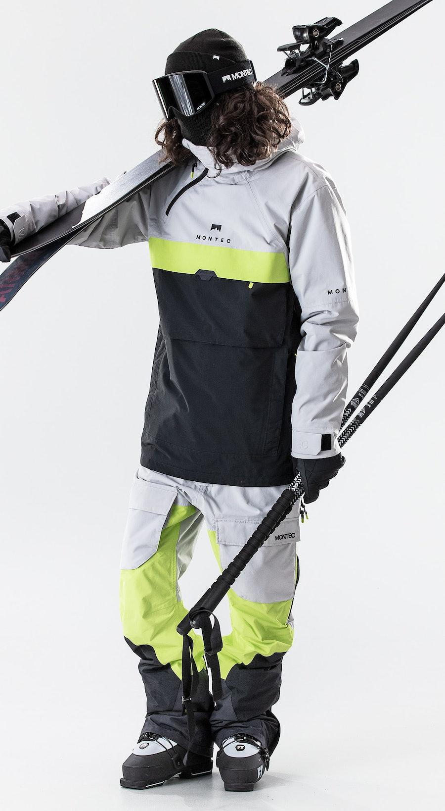 Montec Dune Light Grey/Neon Yellow/Black Outfit Multi