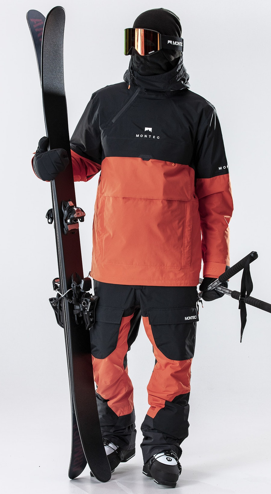 Montec Dune Black/Orange Vêtements de Ski Multi