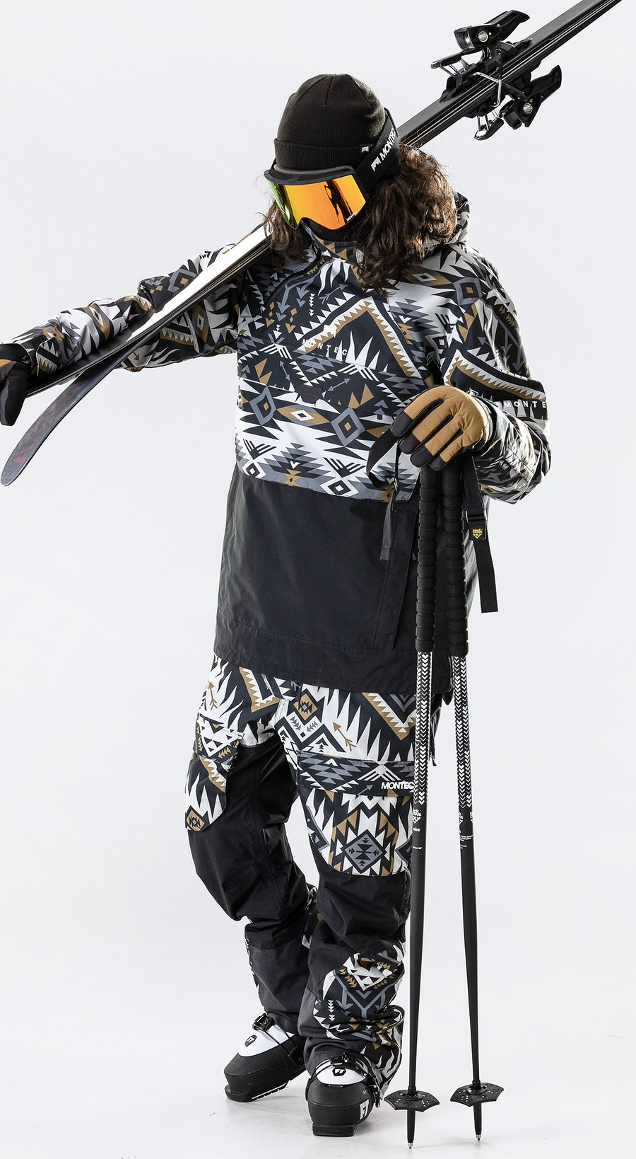 Montec Dune Komber Gold/Black Vêtements de Ski Multi