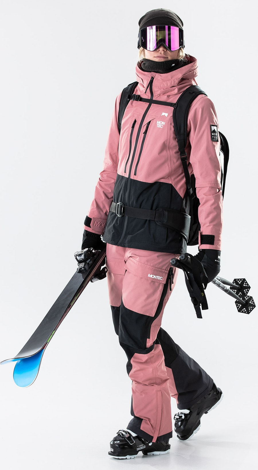 Montec Moss Pink/Black Vêtements de Ski Multi