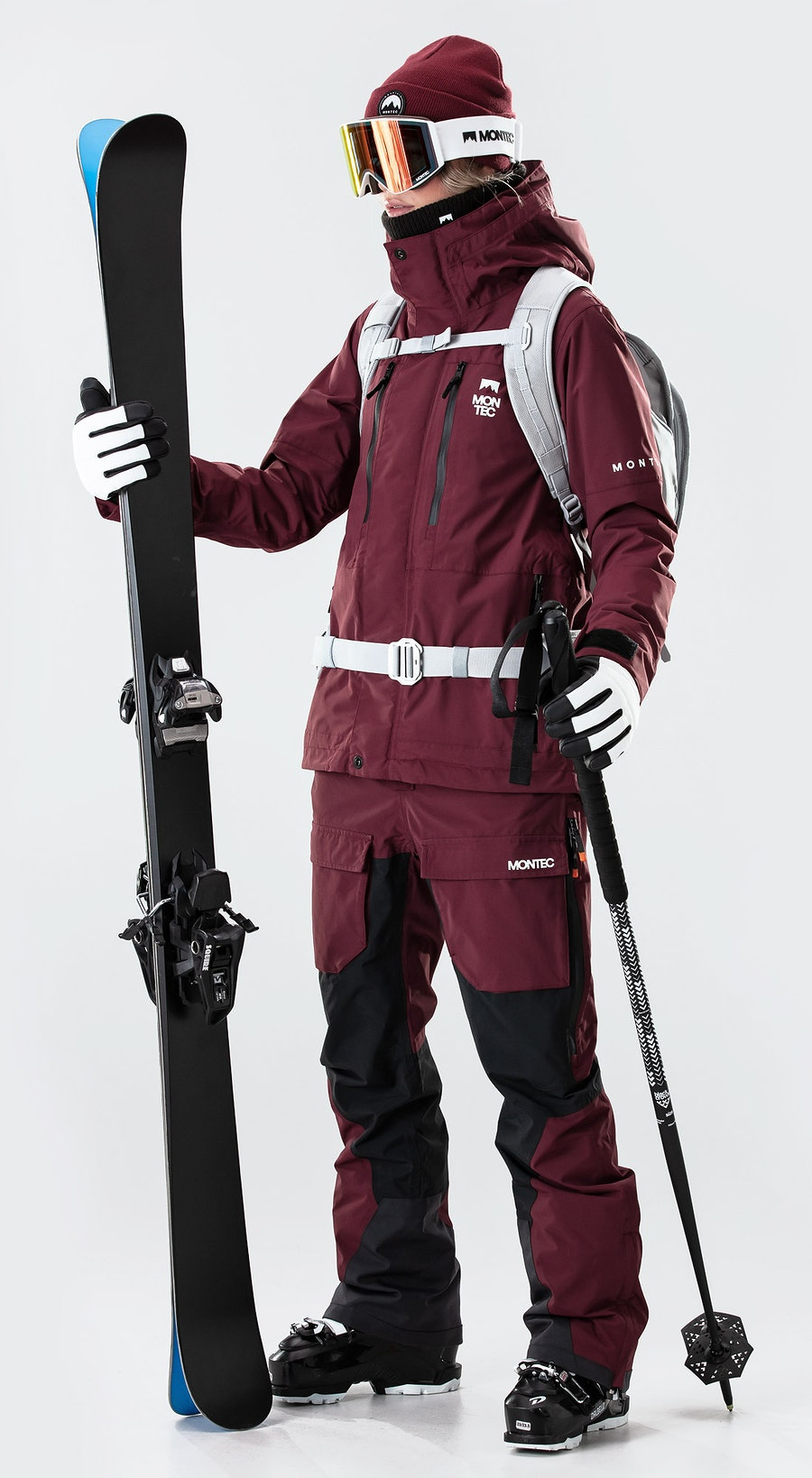 Montec Fawk W Burgundy Ski Clothing Multi
