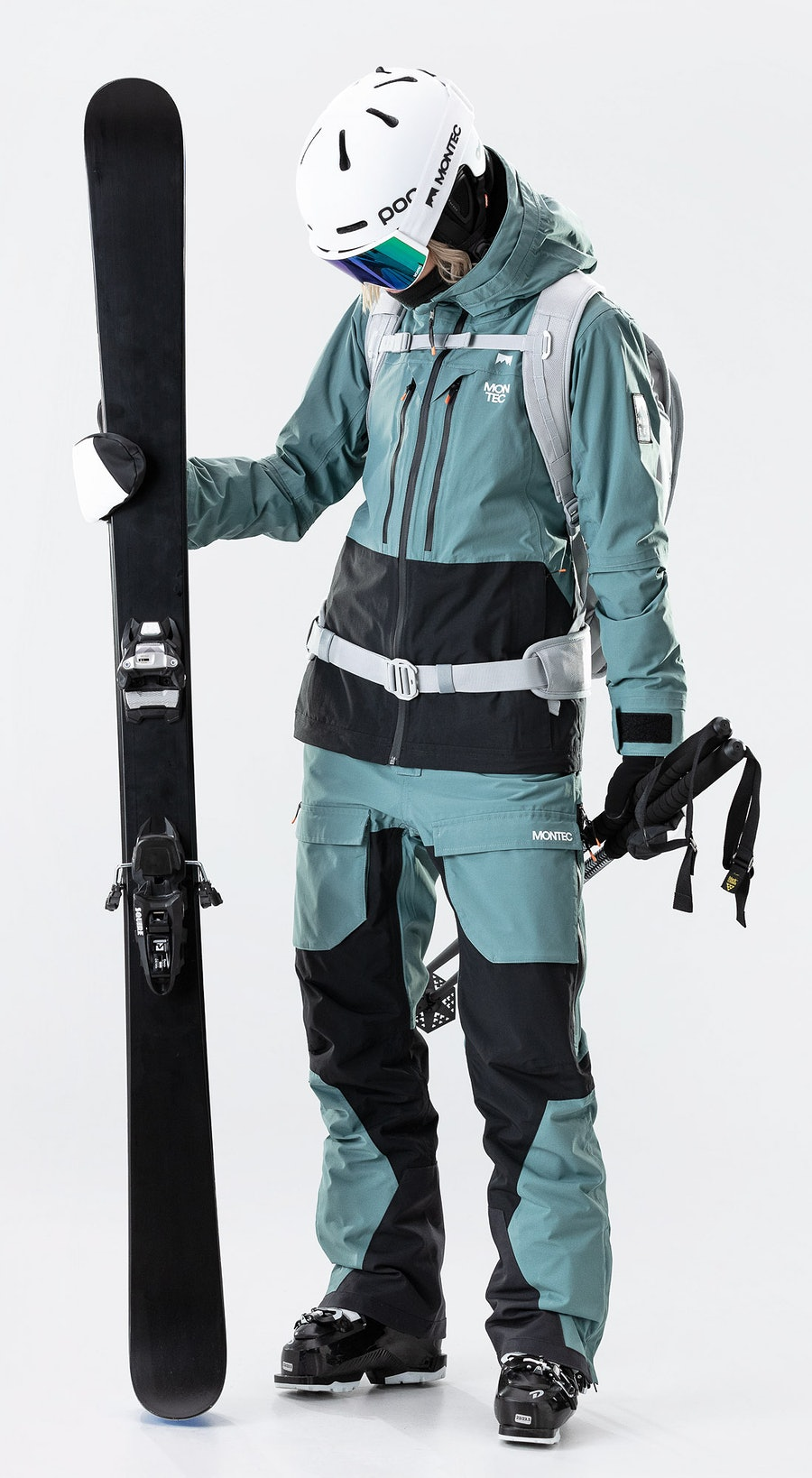 Montec Moss Atlantic/Black Vêtements de Ski Multi