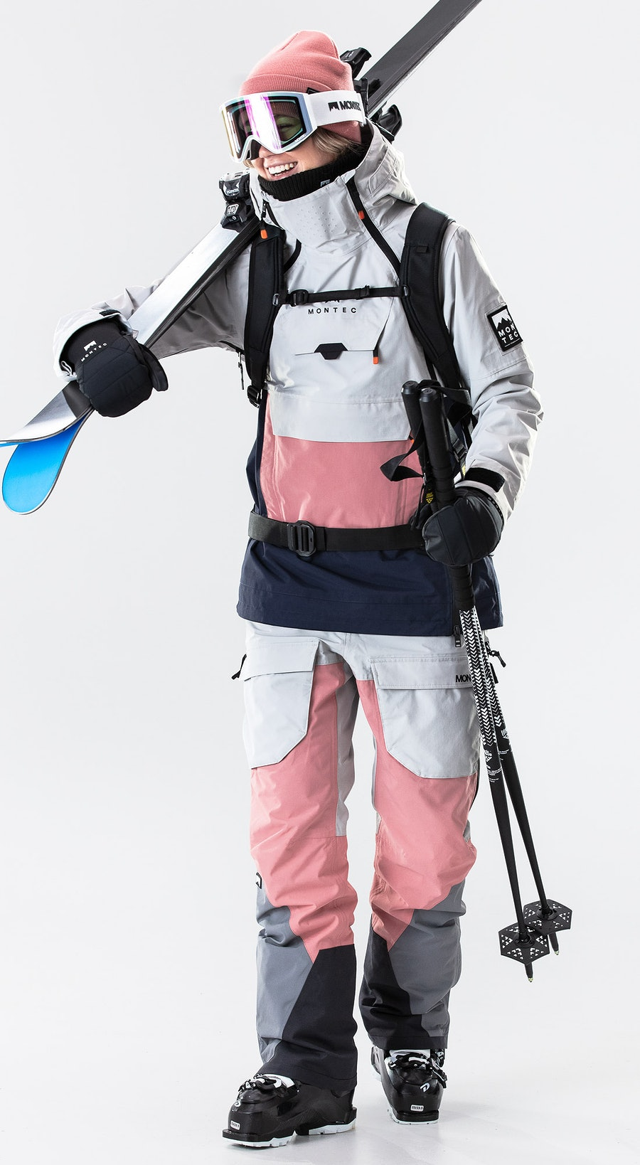 Montec Doom W Light Grey/Pink/Marine Vêtements de Ski Multi